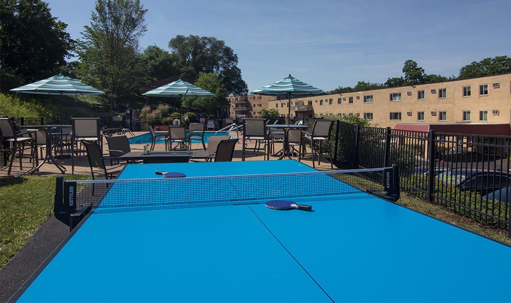 Ping pong table at Park Place of South Park in South Park, Pennsylvania