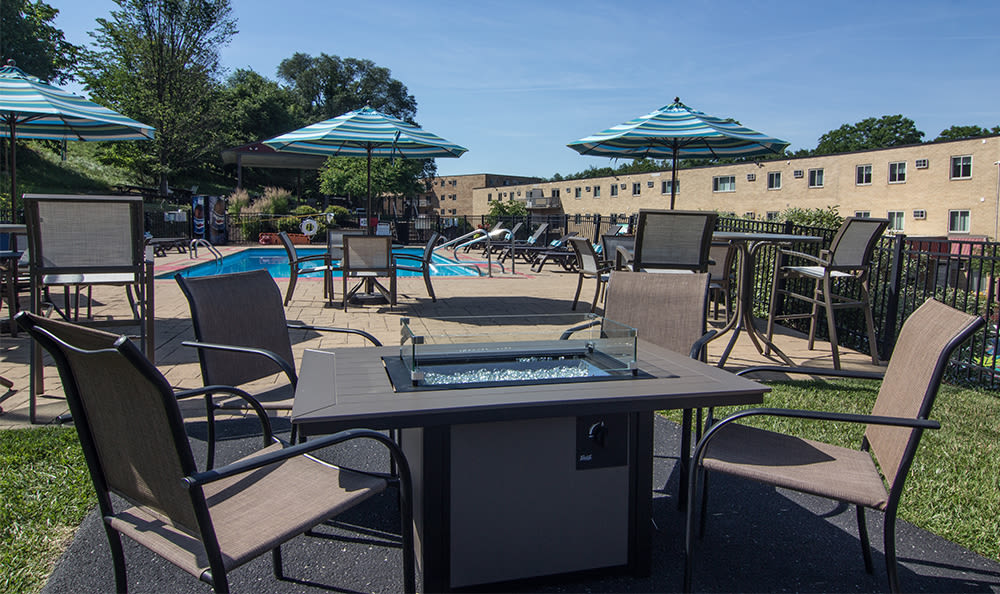 Fire pit at Park Place of South Park in South Park, Pennsylvania