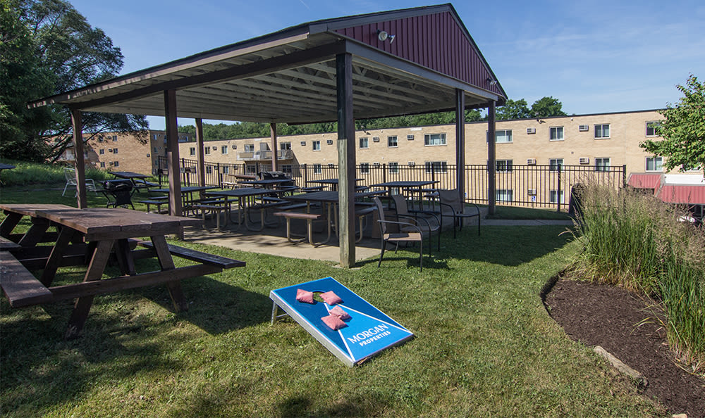 Picnic area at Park Place of South Park in South Park, Pennsylvania