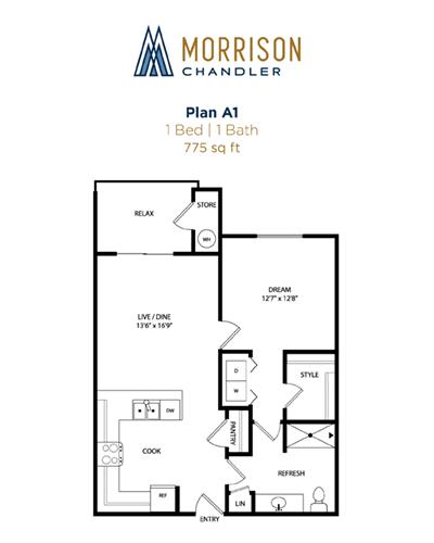 A1 2d floor plan