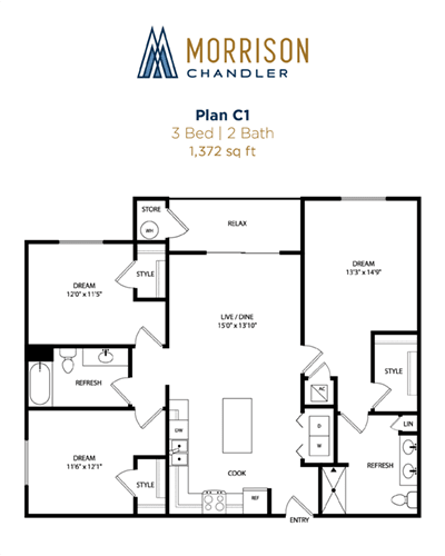 C1 2d floor plan