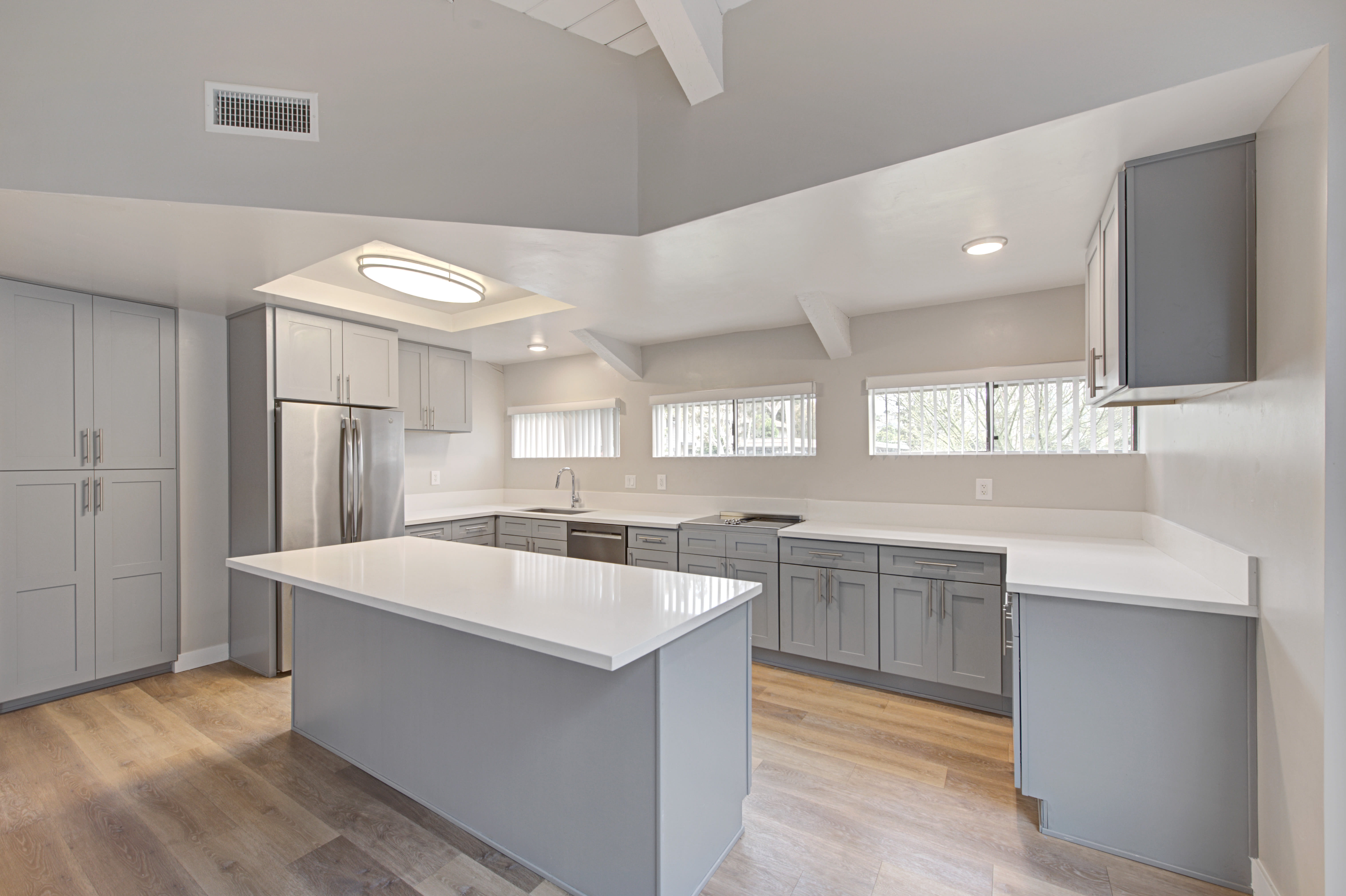 Kitchens with stainless steel appliances at Sofi Ventura in Ventura, California