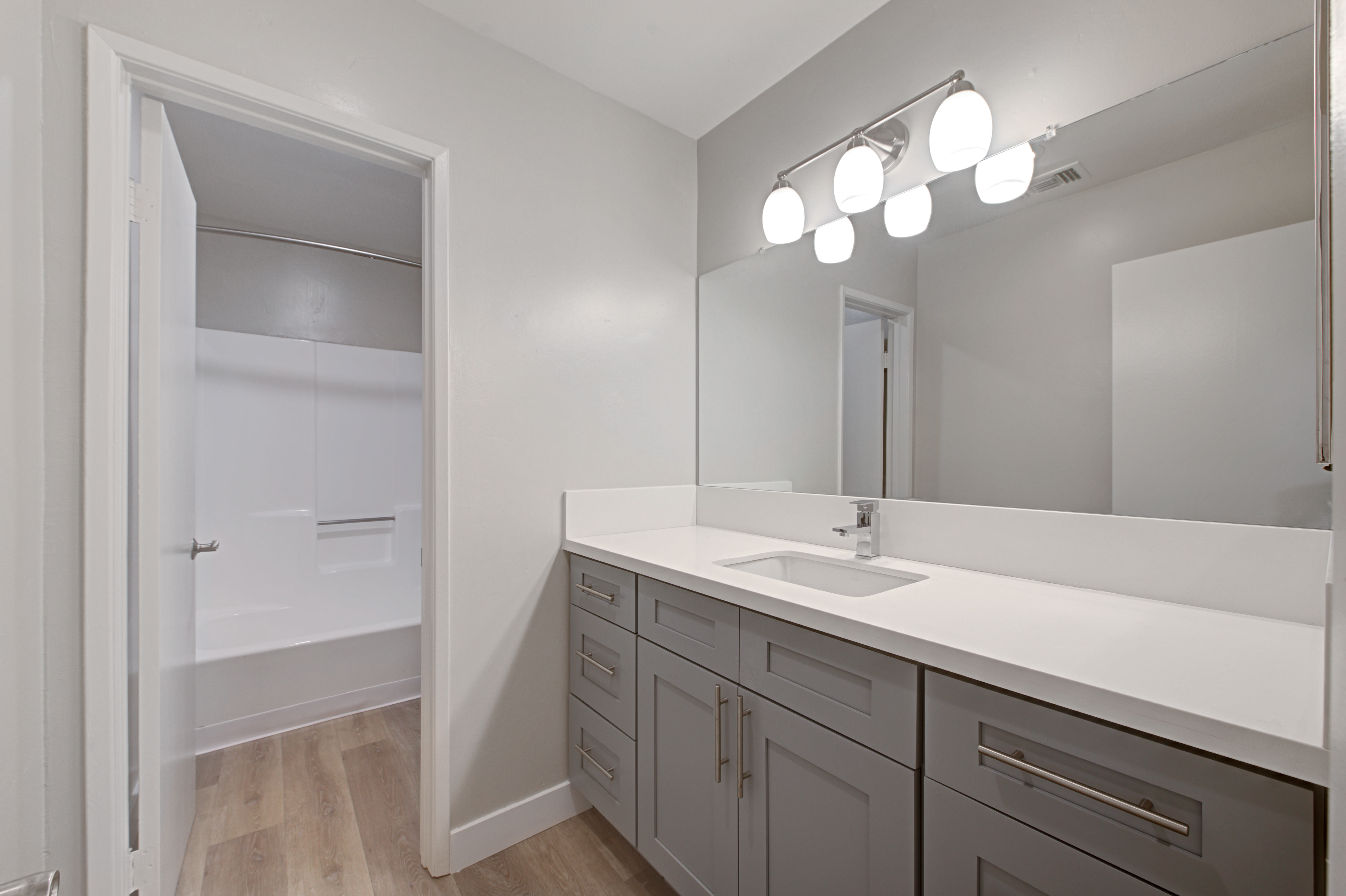 Luxury bathrooms with closet at Sofi Ventura in Ventura, California