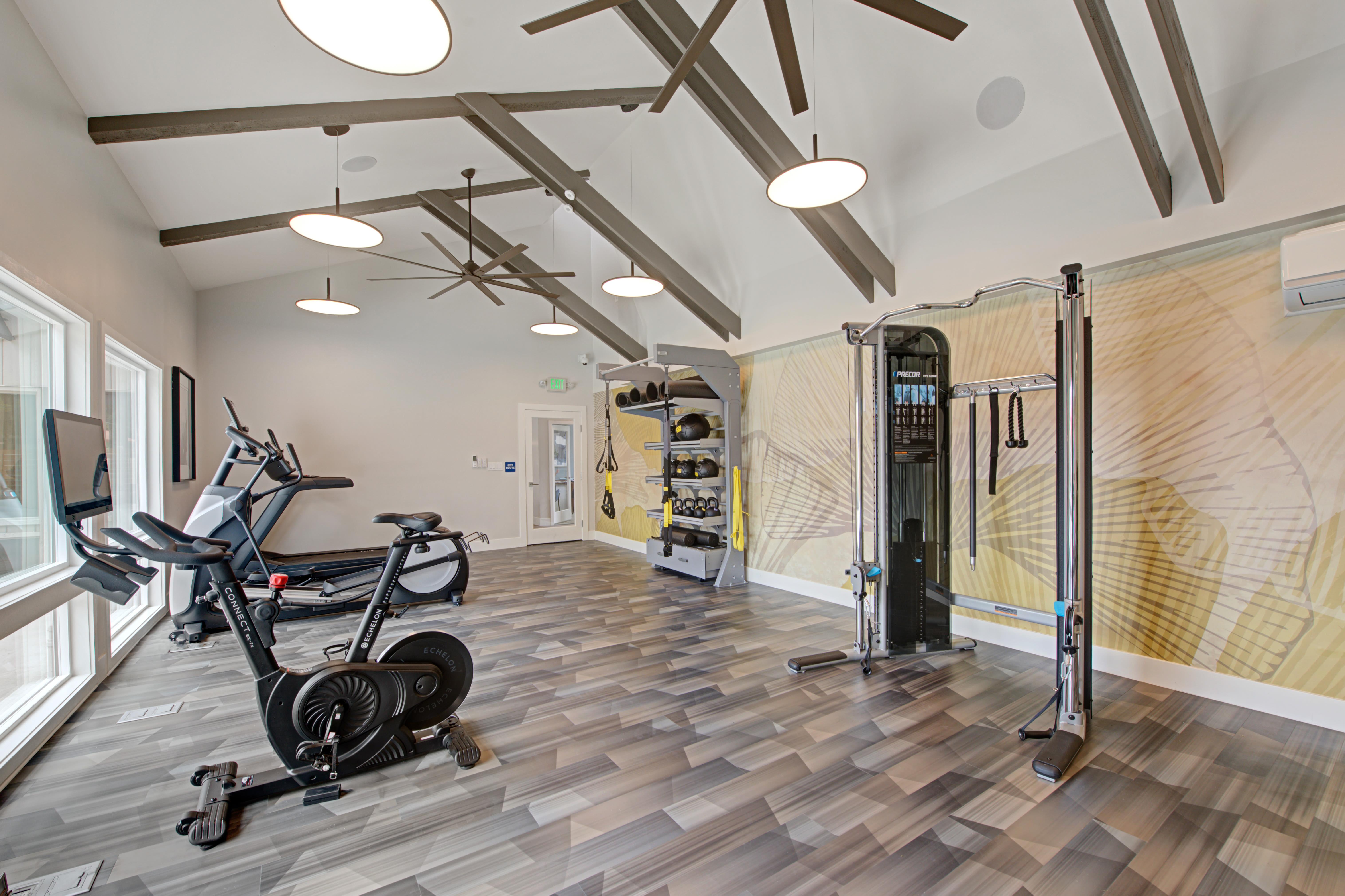 Fitness center at Sofi Ventura in Ventura, California