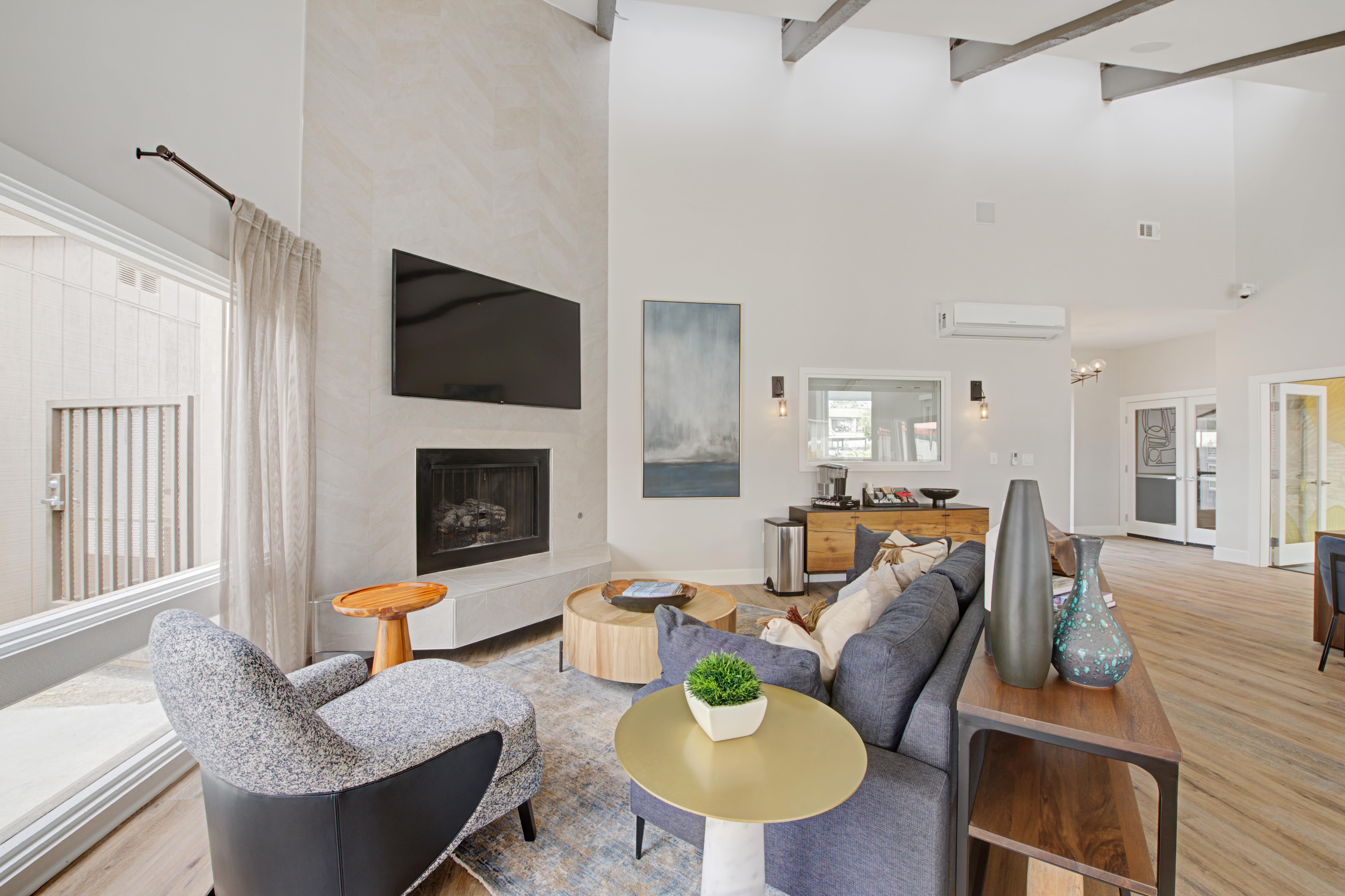 TV lounge area at Sofi Ventura in Ventura, California