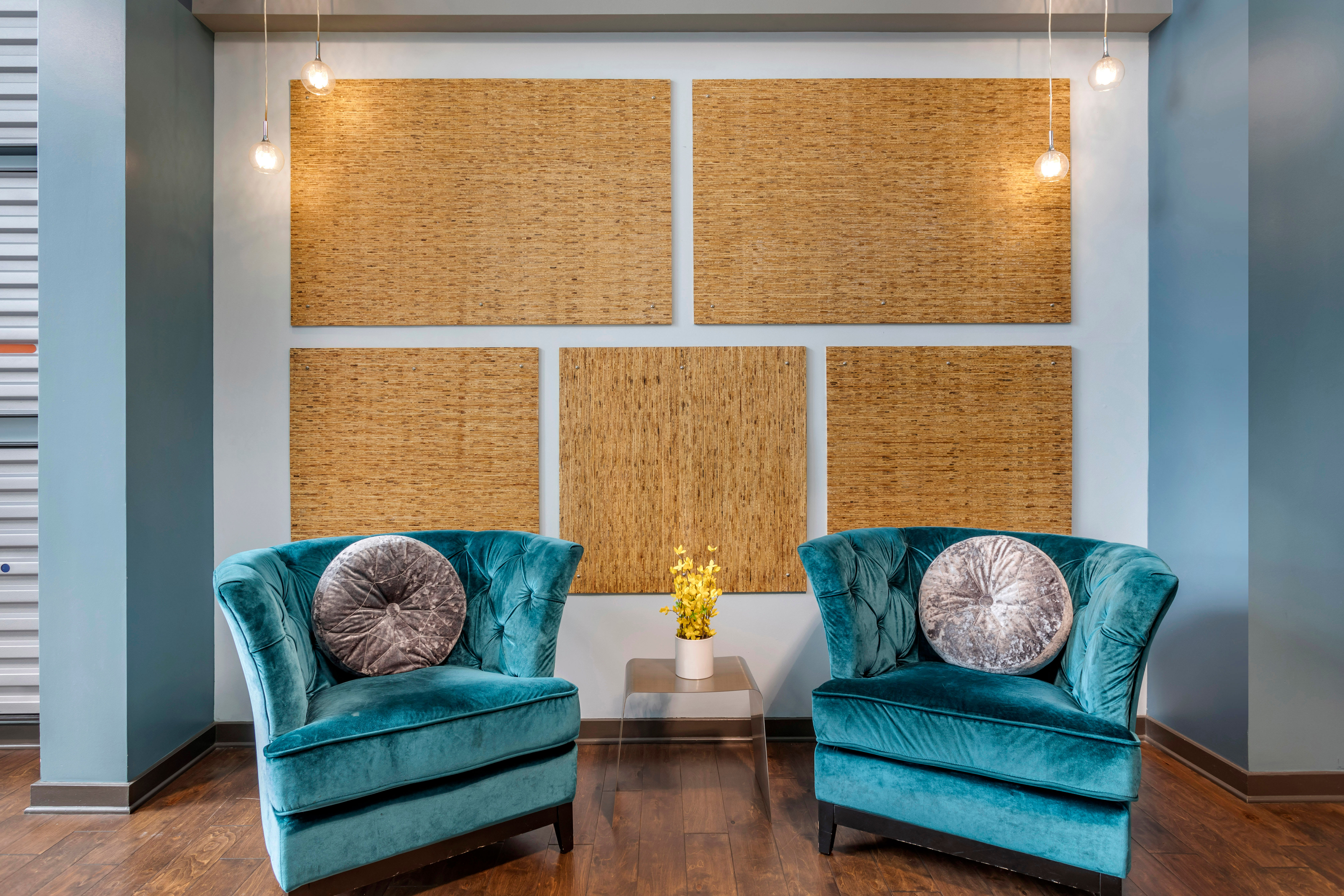 Comfortable places to sit at Olympus Midtown in Nashville, Tennessee