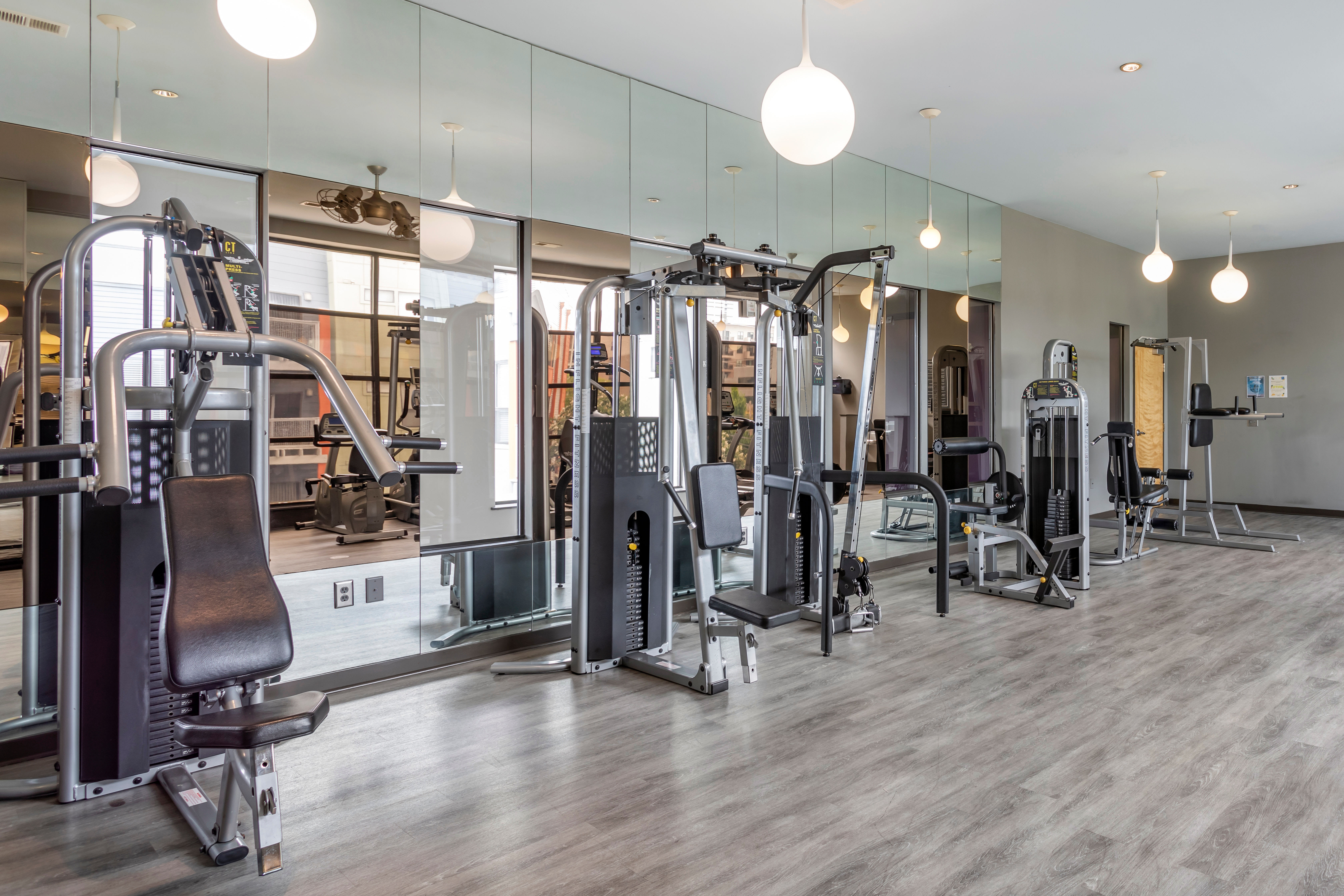 Onsite fitness center at Olympus Midtown in Nashville, Tennessee