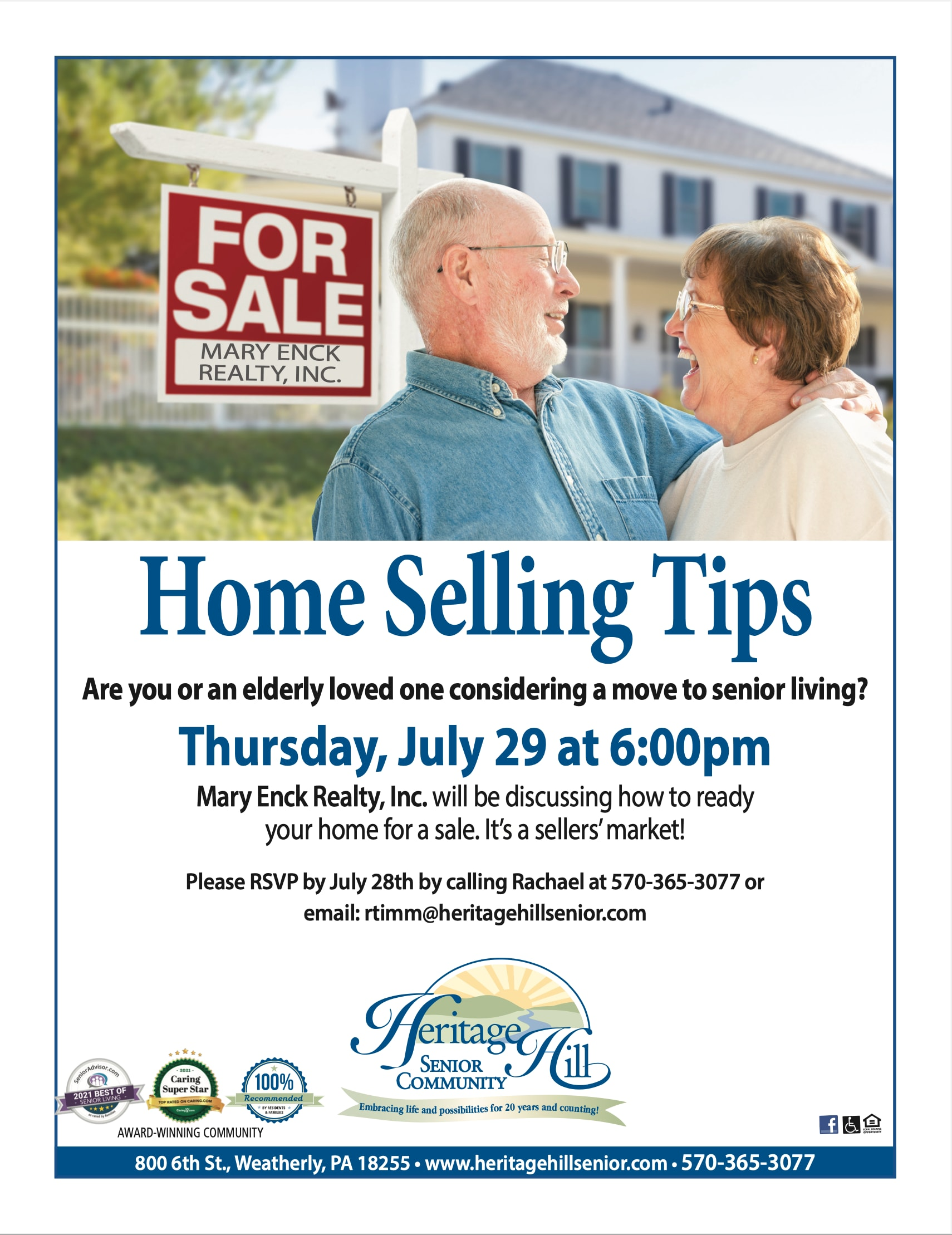 Home Selling Tips Flyer - June 29th, 2021 at 6:00pm