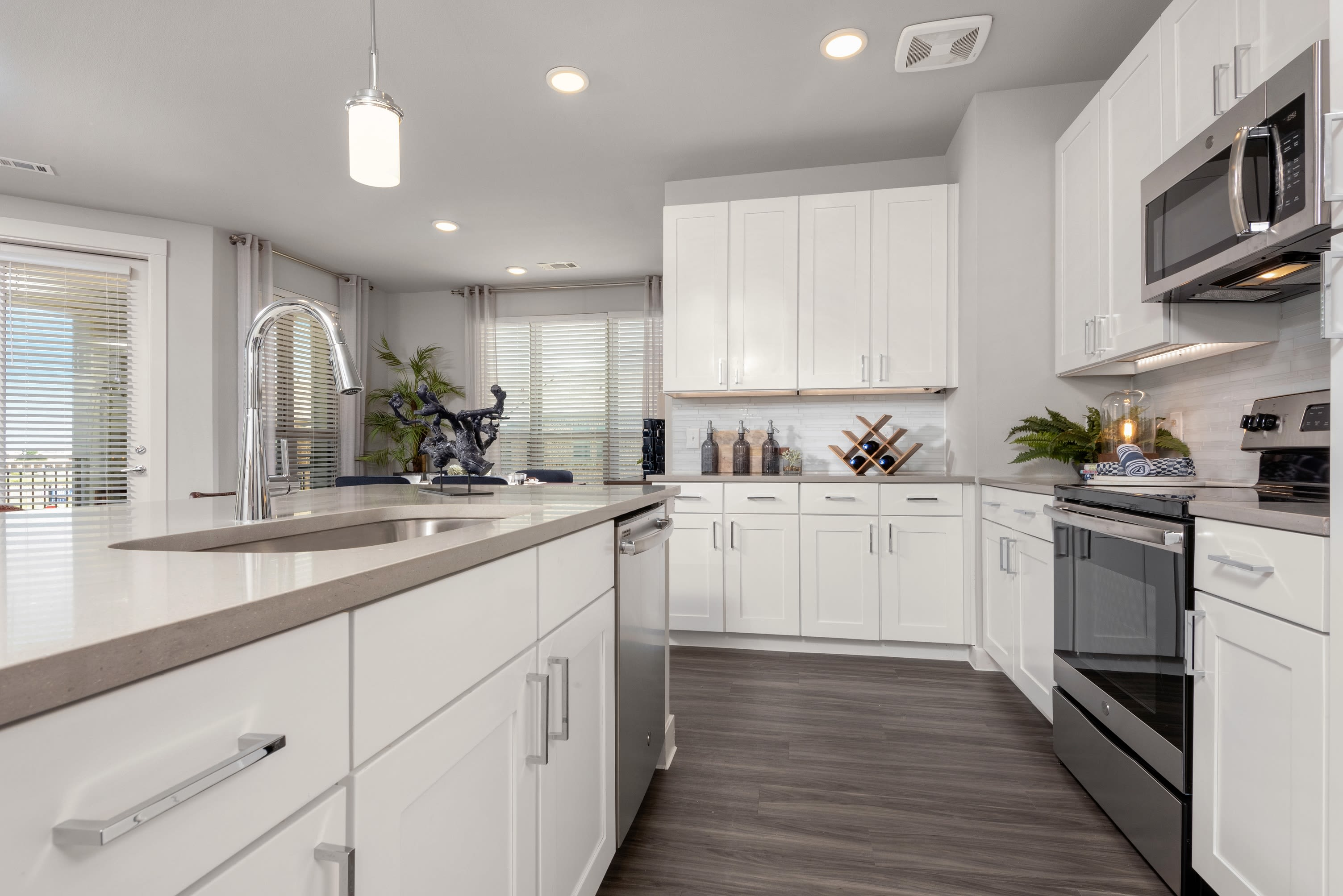 Large open concept kitchen at Domain at Founders Parc in Euless, Texas