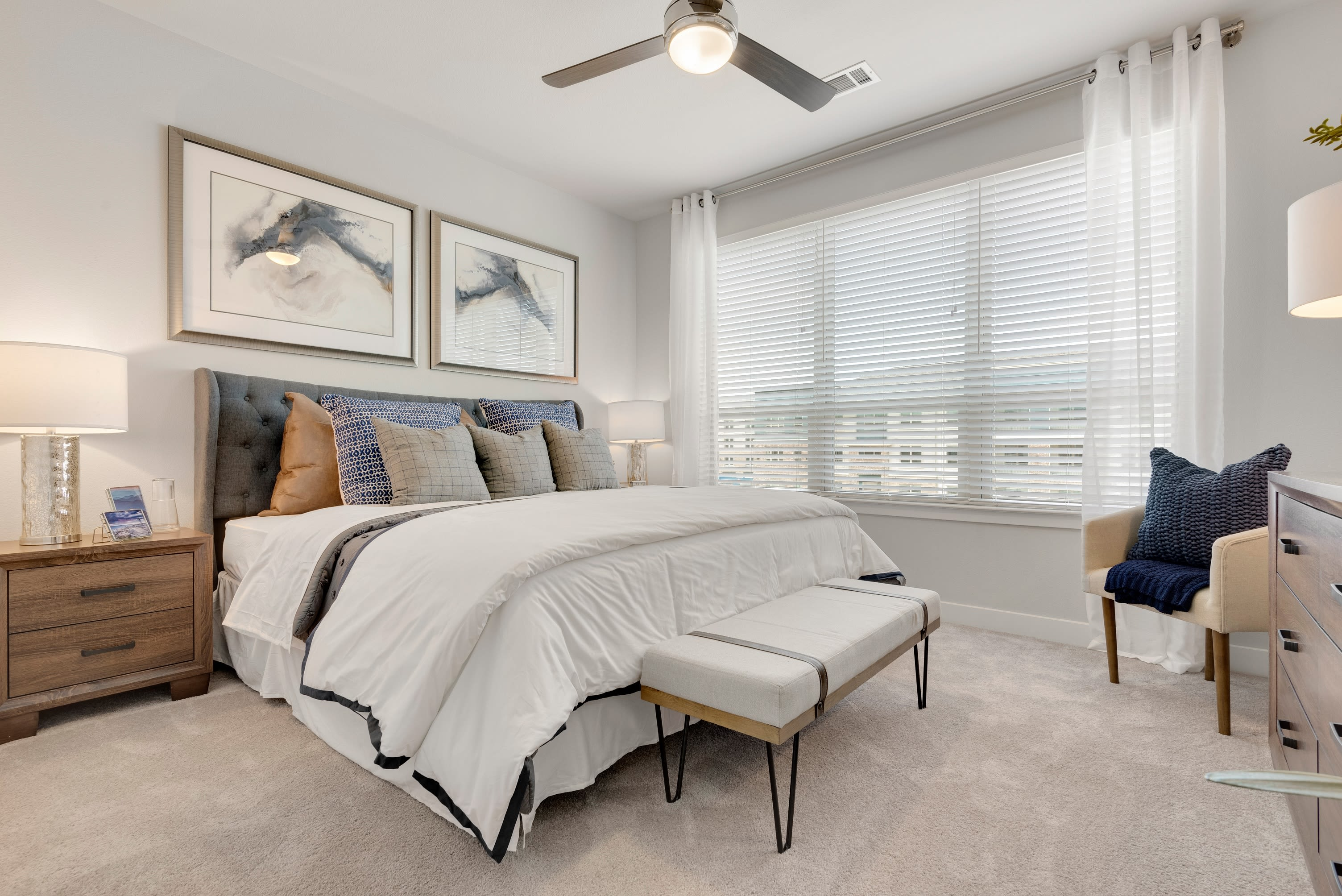 Large main bedroom at Domain at Founders Parc in Euless, Texas