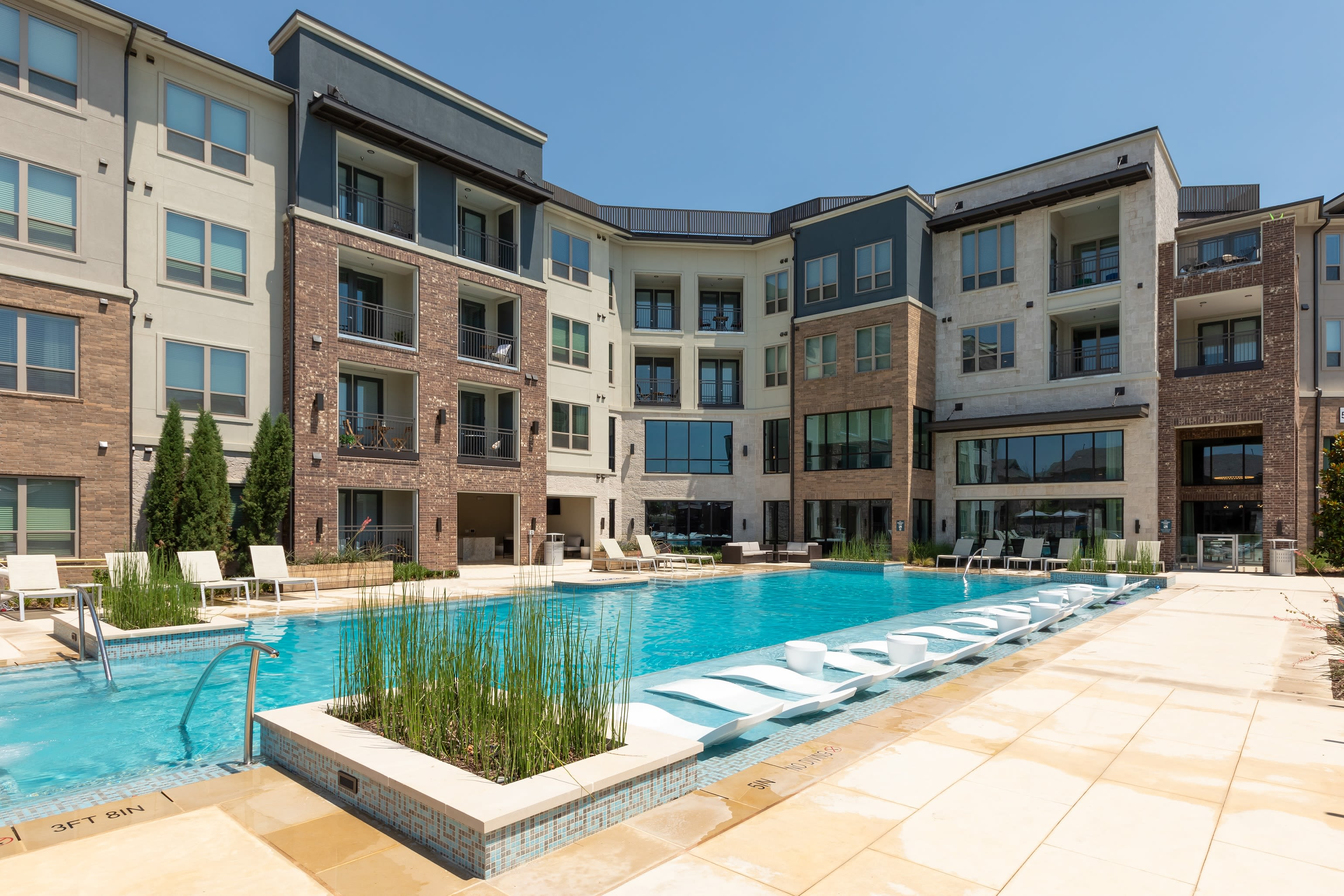 Poolside view at Domain at Founders Parc in Euless, Texas