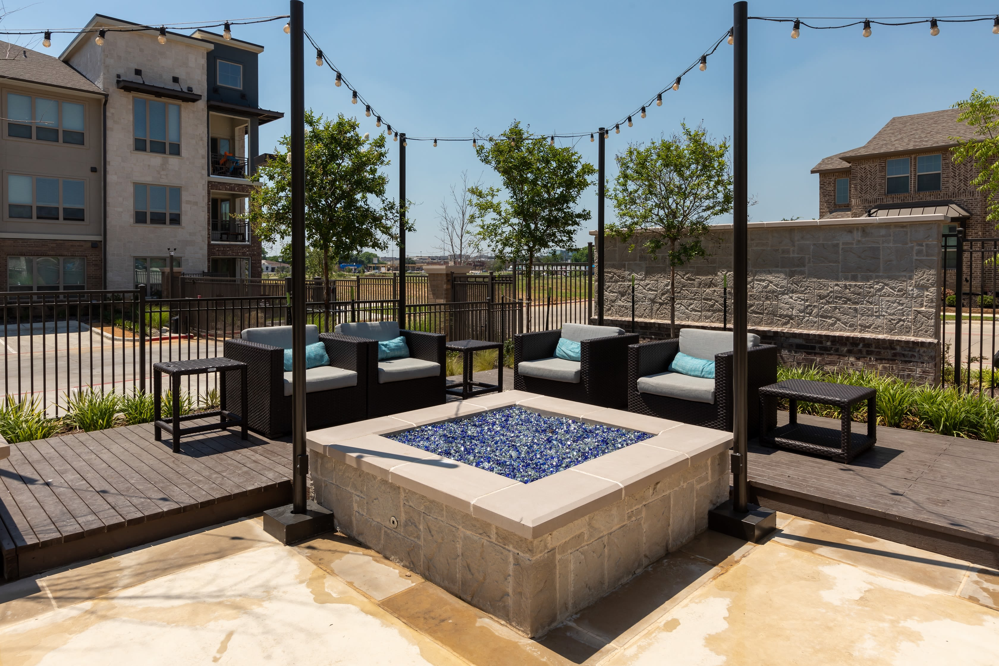 Fire pit for residents to enjoy at Domain at Founders Parc in Euless, Texas
