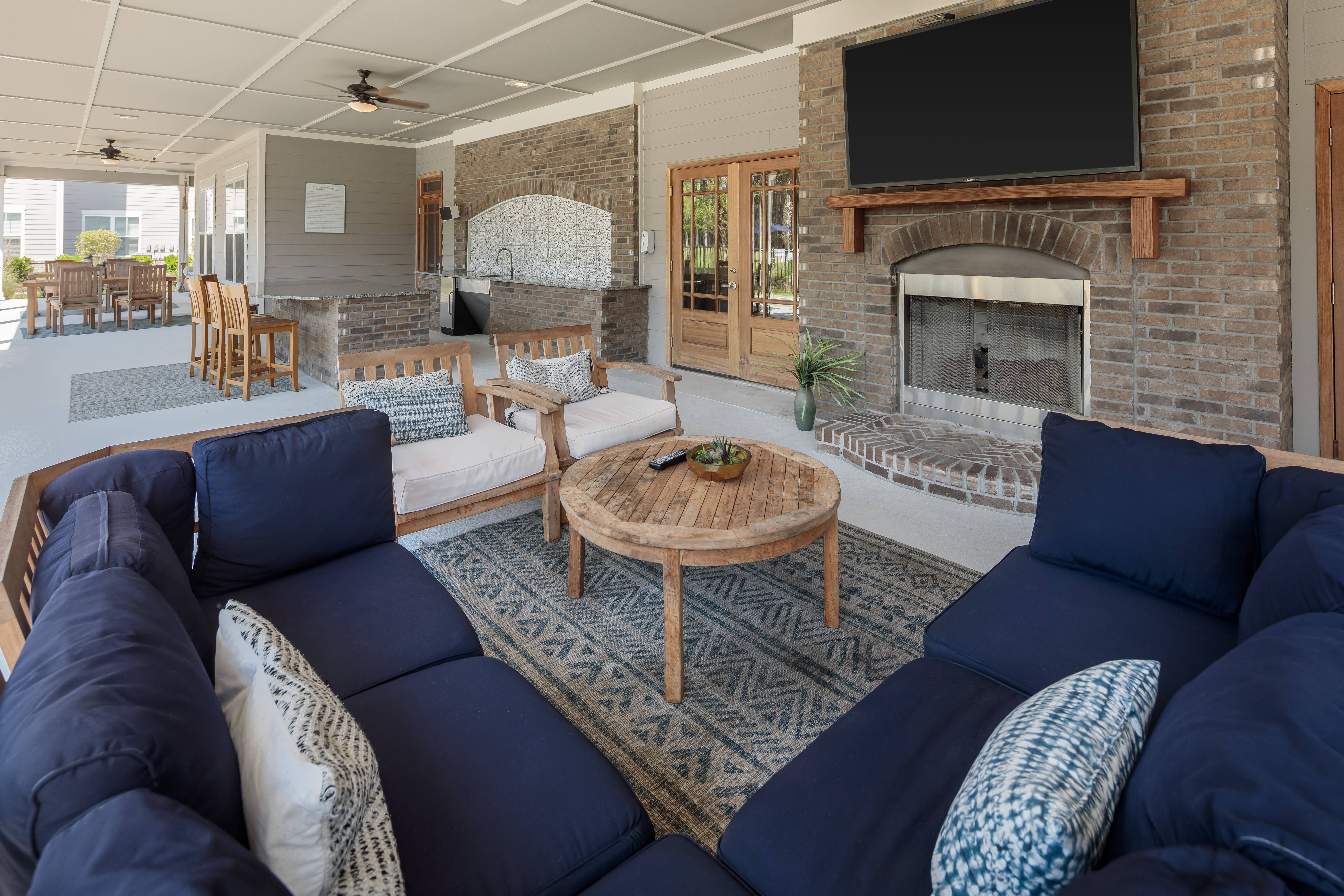 Spacious outdoor seating area at The Isaac in Summerville, South Carolina