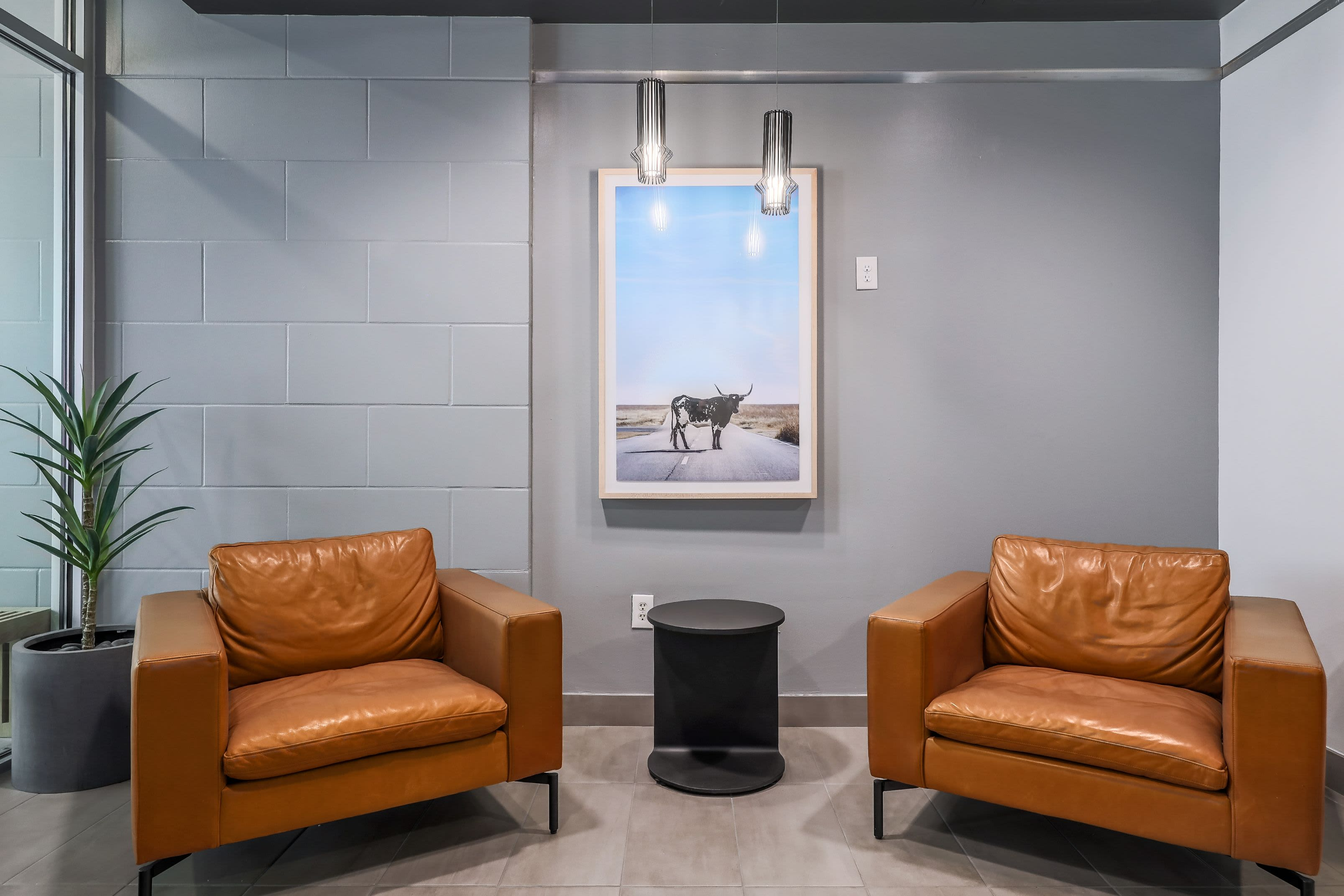 Plush seating at 21 Rio in Austin, Texas