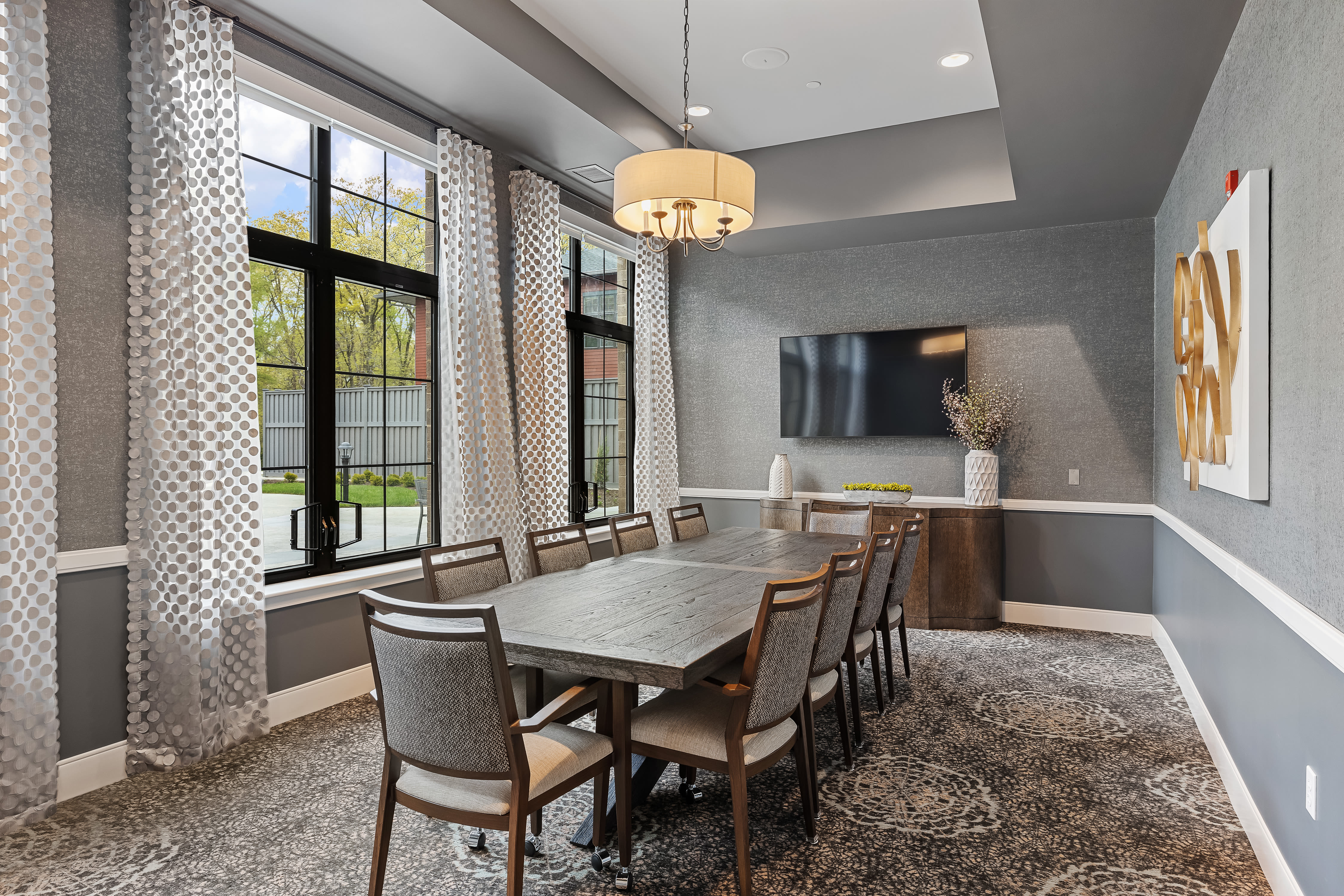 Private dining room for families at Anthology of Midlothian in North Chesterfield, Virginia