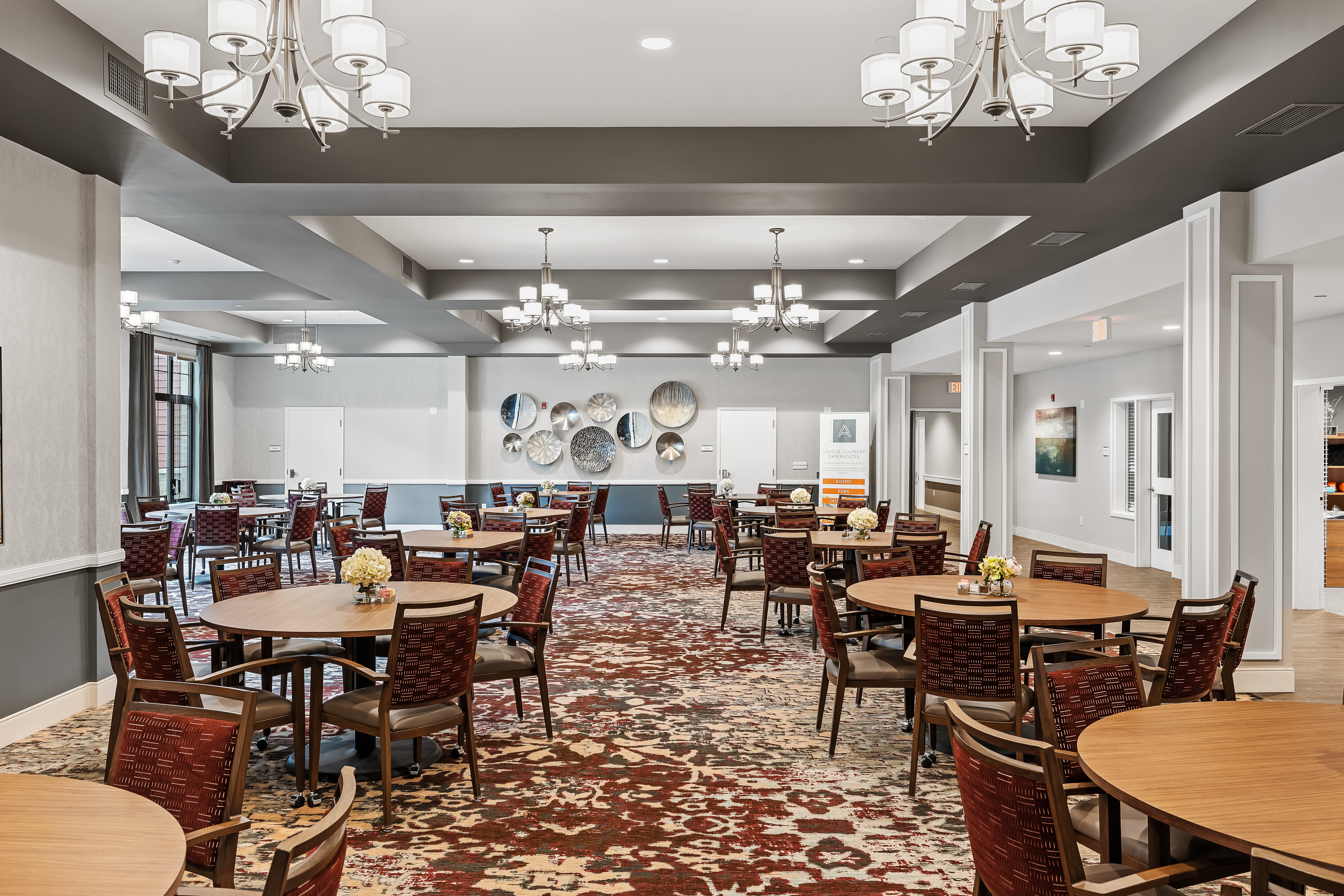 Assisted living dining room at Anthology of Midlothian in North Chesterfield, Virginia