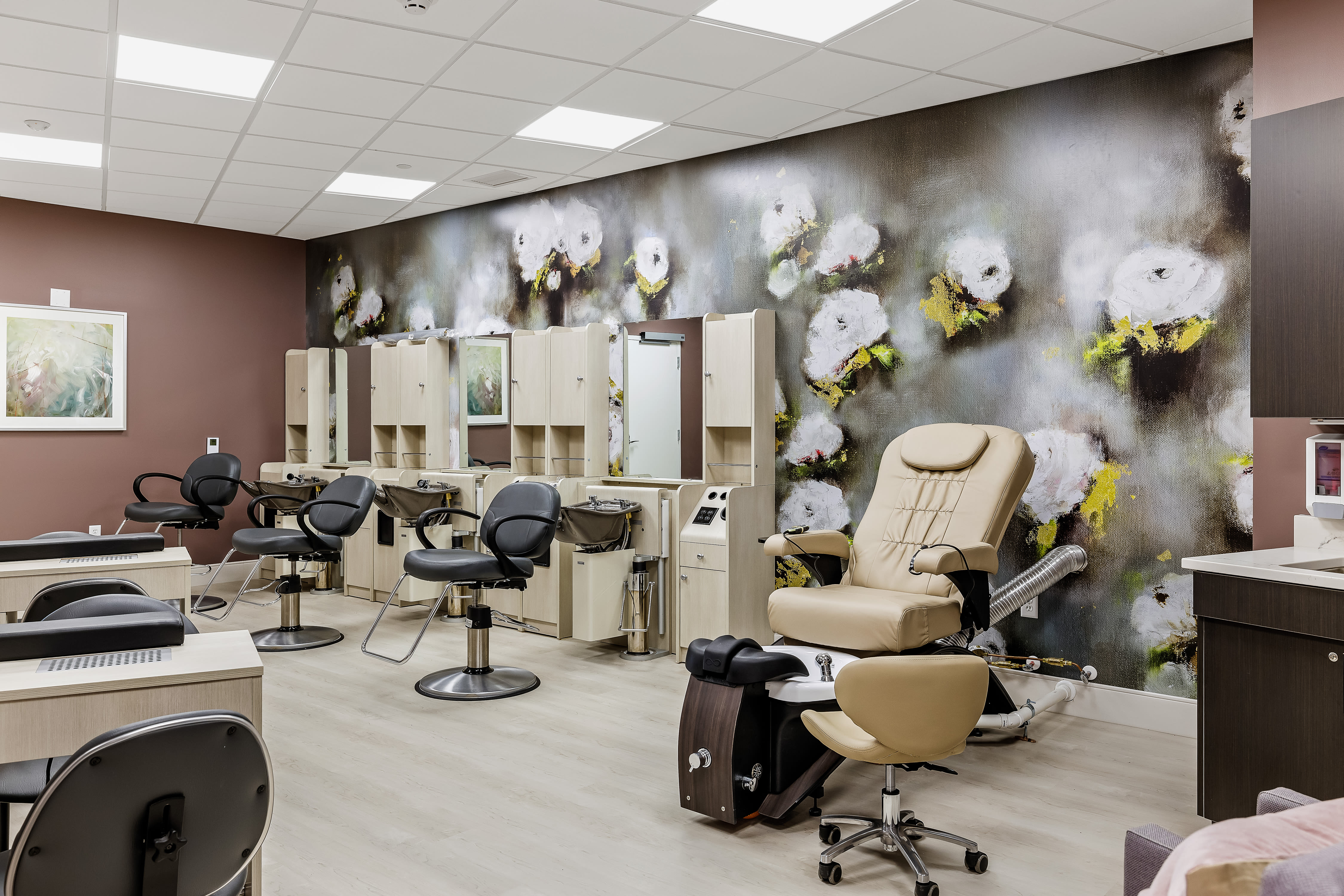 Onsite salon for residents at Anthology of Midlothian in North Chesterfield, Virginia