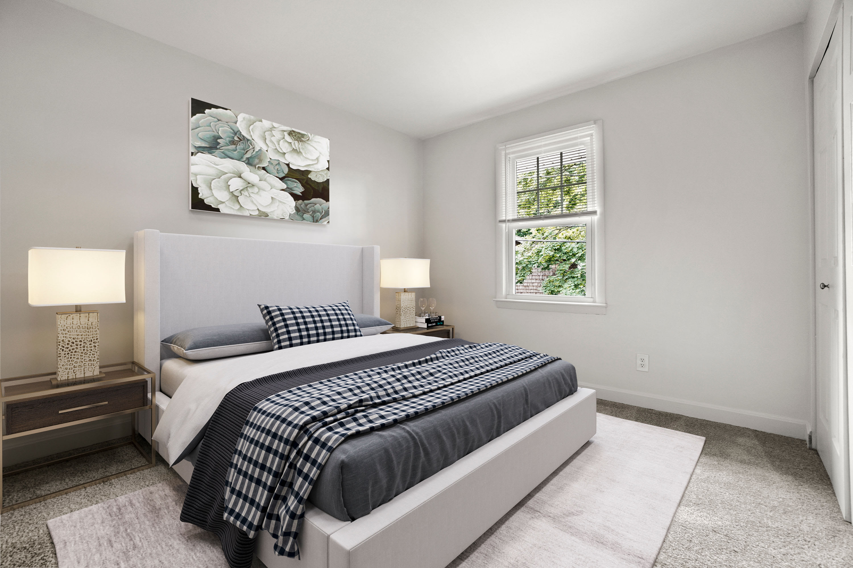 Rendered bedroom at President Village in Fall River, Massachusetts