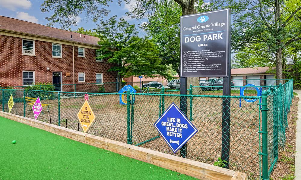 Dog park at General Greene Village Apartment Homes in Springfield, NJ