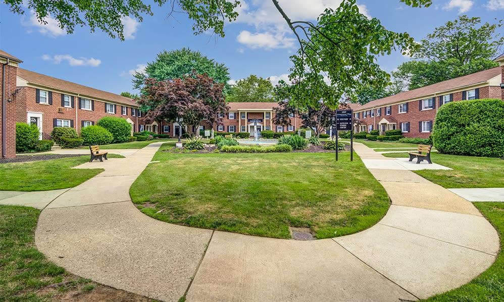Beautiful exterior views at General Greene Village Apartment Homes in Springfield, NJ