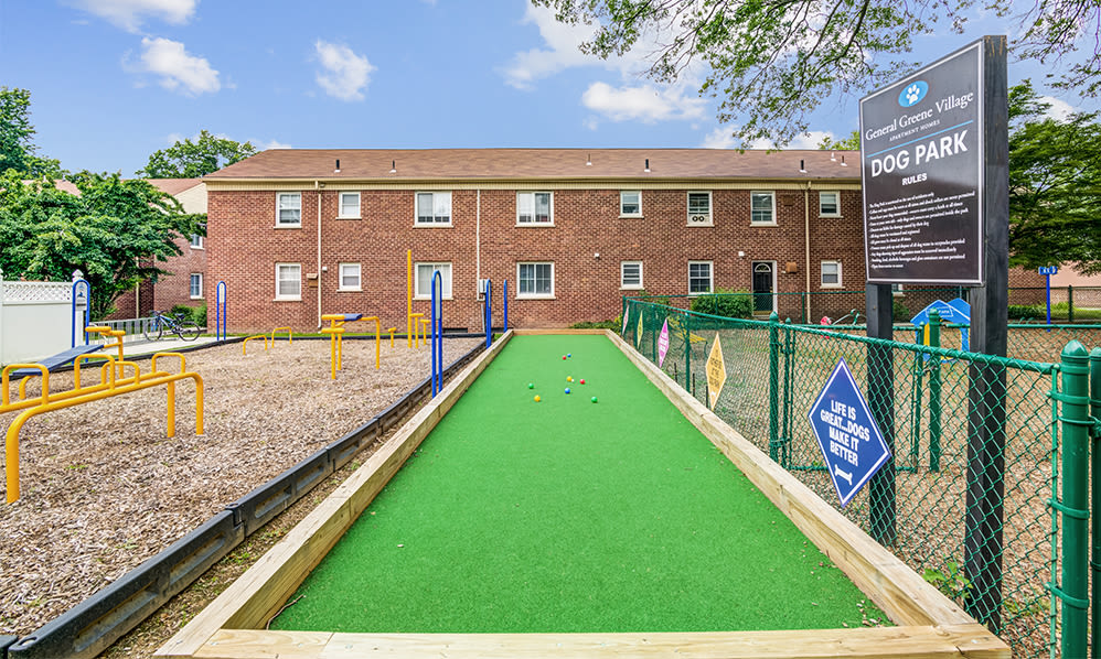 Bocce ball at General Greene Village Apartment Homes in Springfield, NJ