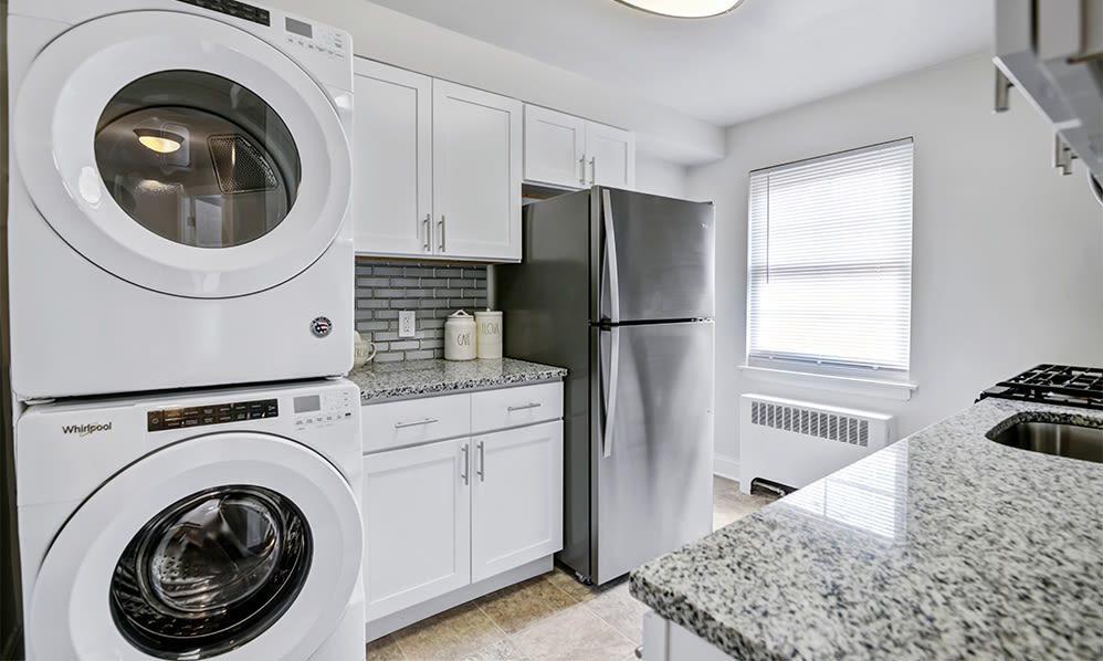 Washer and dryer  at General Greene Village Apartment Homes in Springfield, NJ