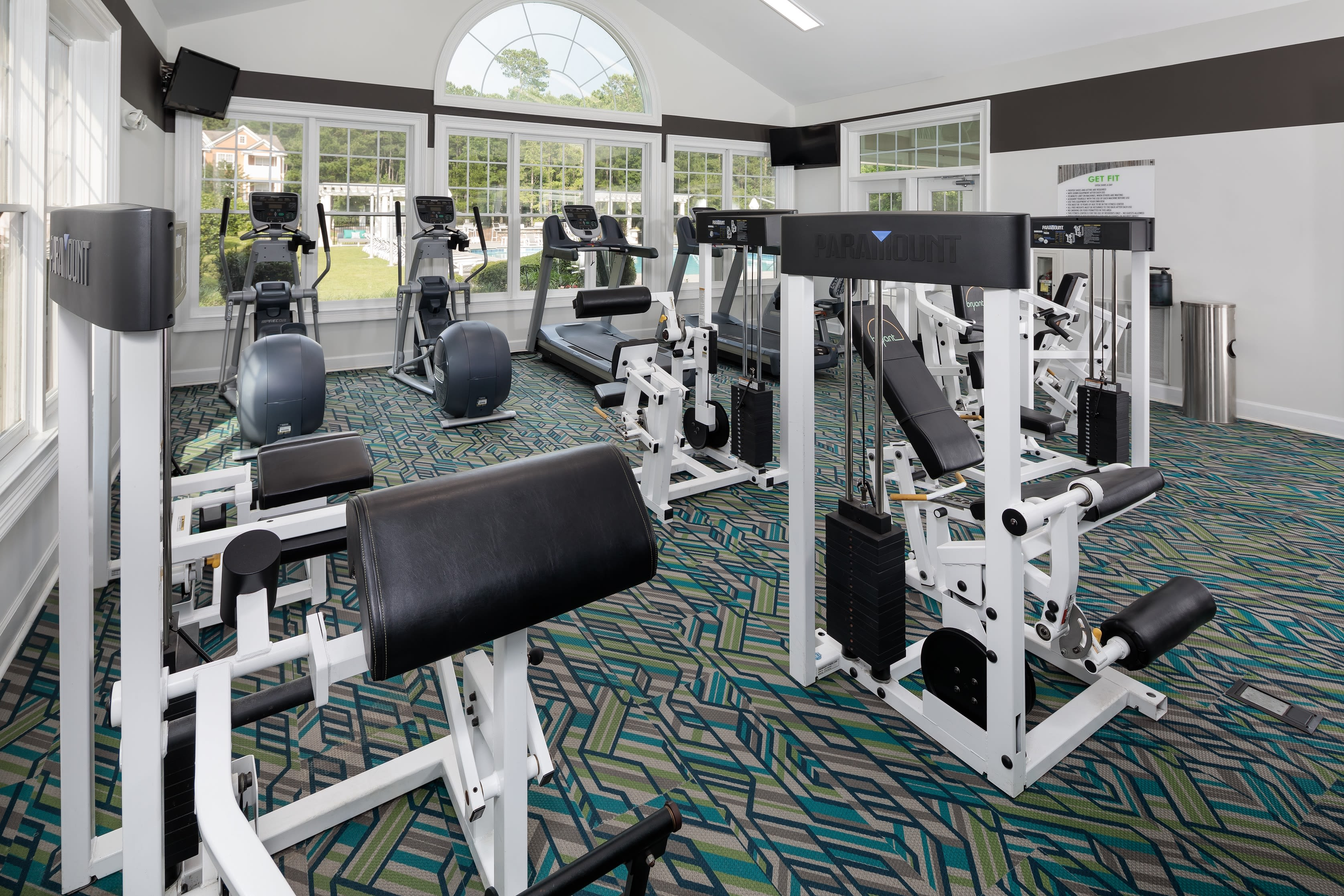 Fitness center at Bryant at Summerville in Summerville, South Carolina