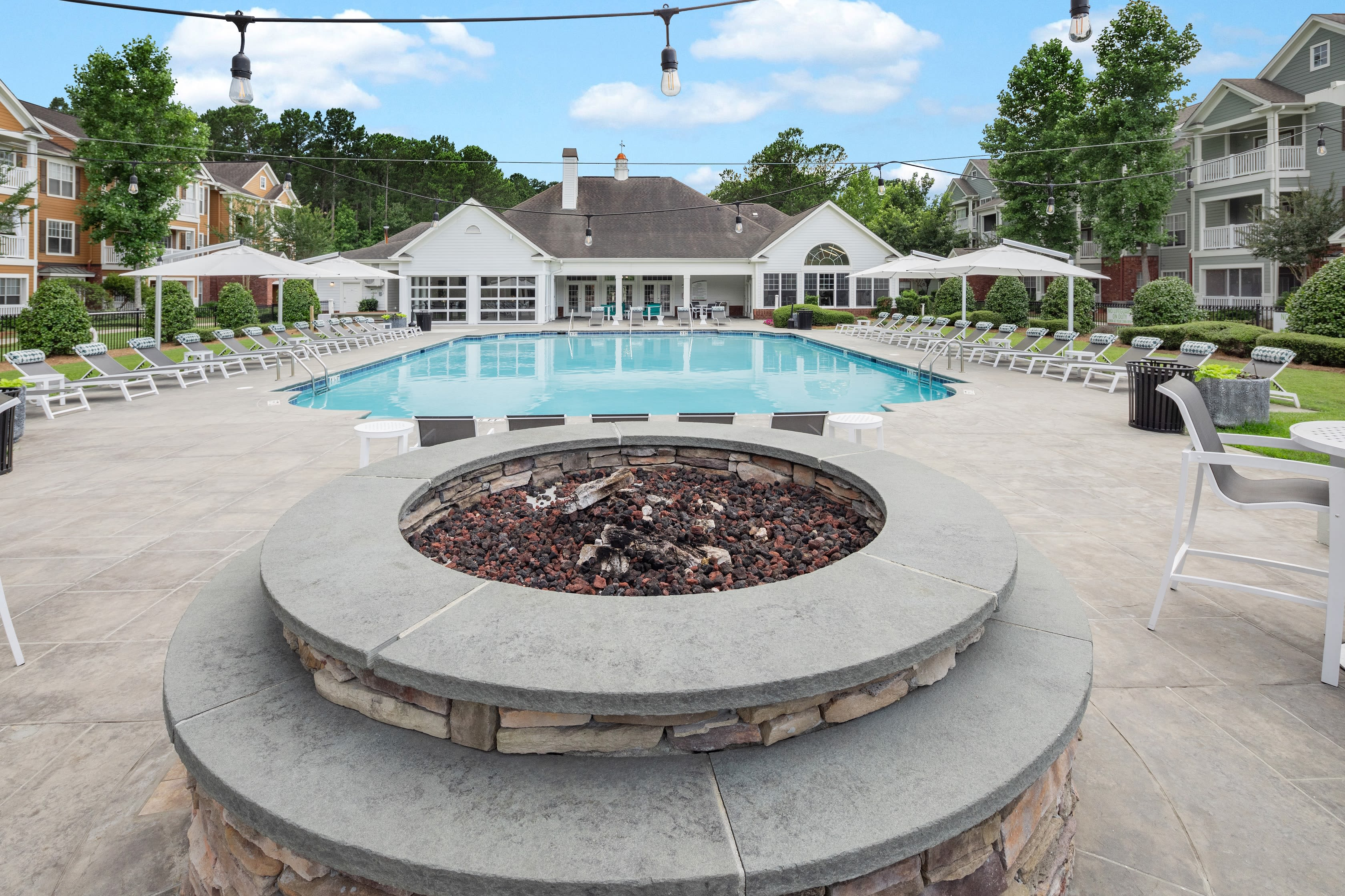 Lounge by our swimming pool at Bryant at Summerville in Summerville, South Carolina