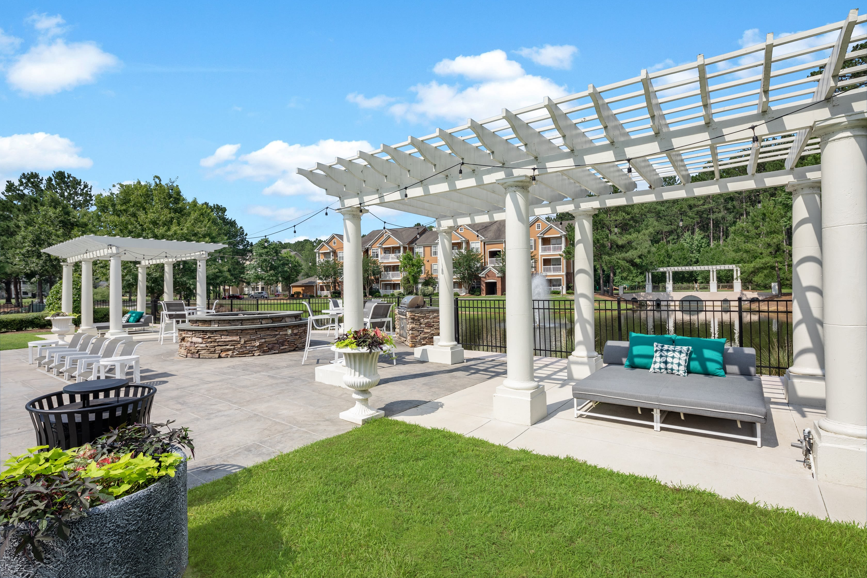 Outdoor area for residents at Bryant at Summerville in Summerville, South Carolina