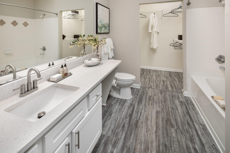 Huge bathroom at Eddison at Deerwood Park in Jacksonville, Florida