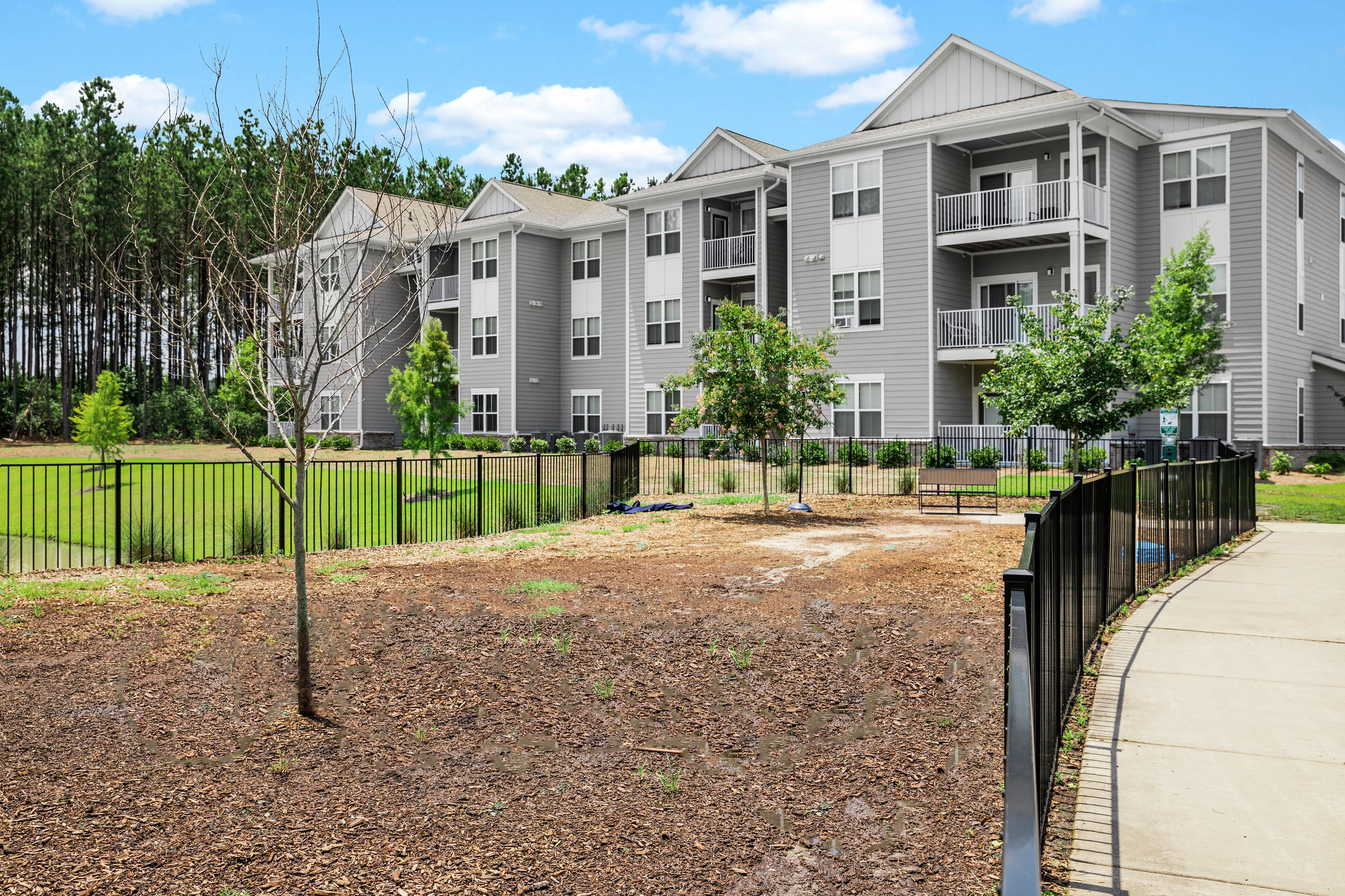 Fenced onsite pet park at The Isaac in Summerville, South Carolina