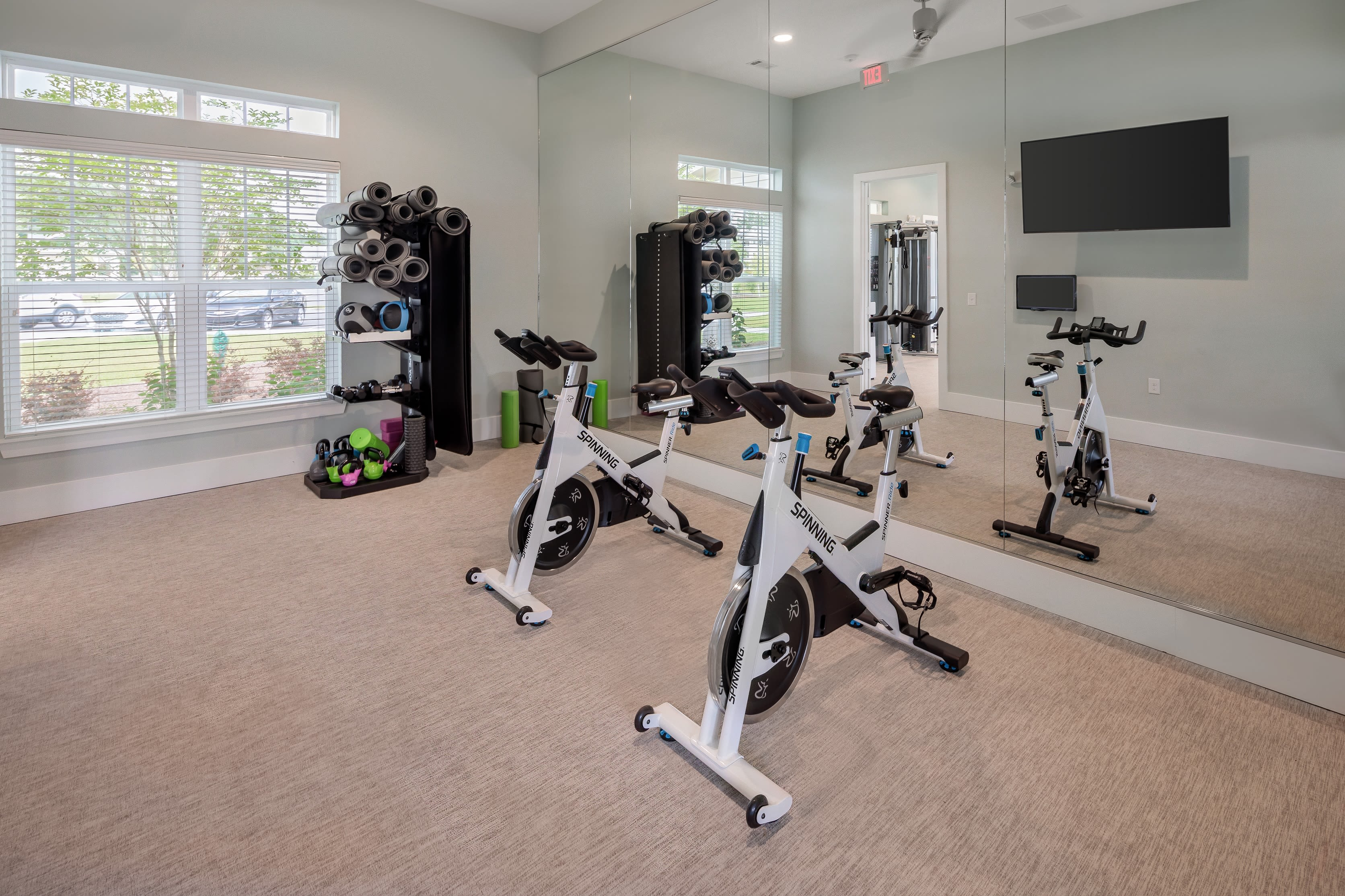 Full state of the art fitness area for residents at The Mason in Ladson, South Carolina