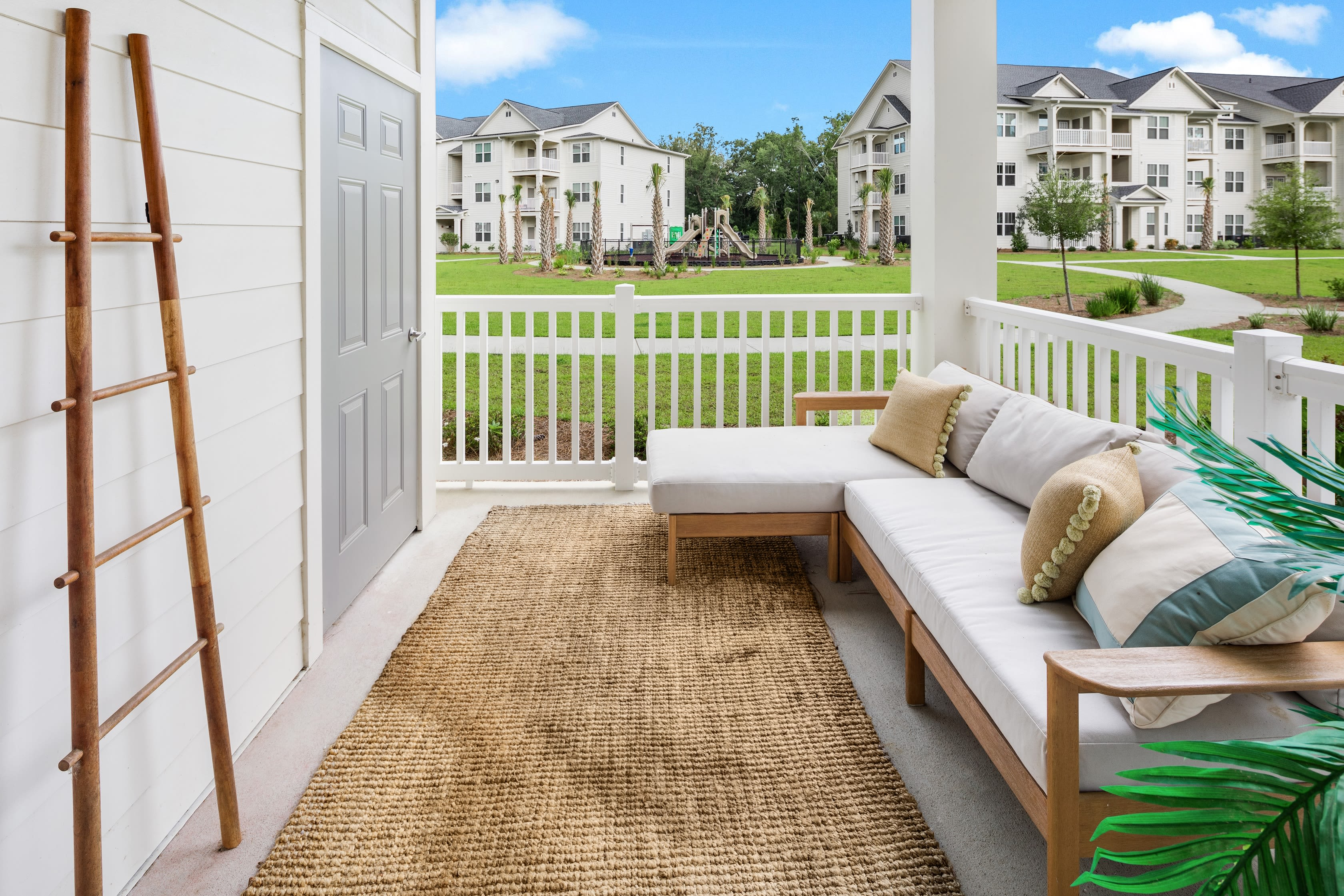 Outdoor sitting area at The Mason in Ladson, South Carolina
