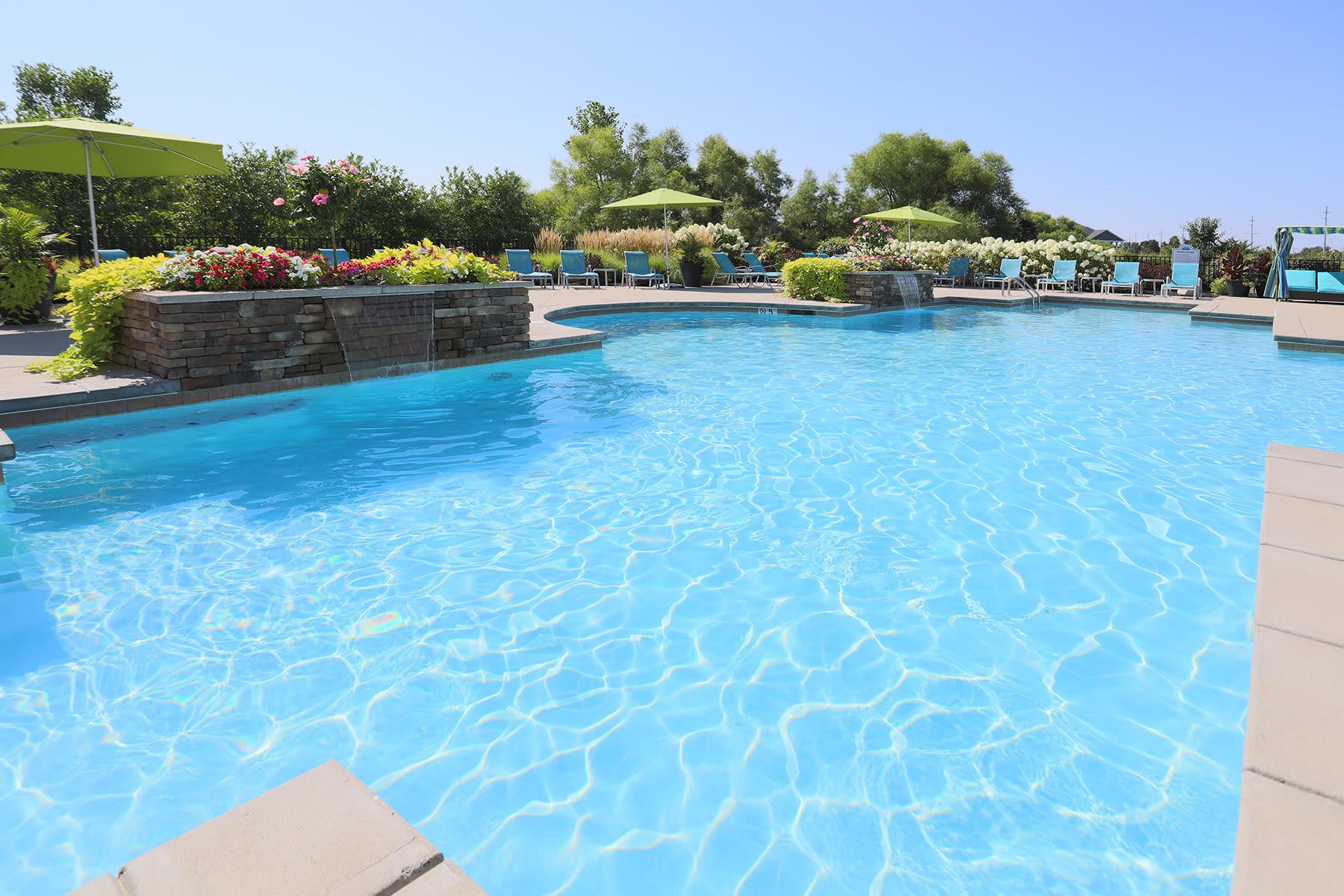 Saltwater swimming pool at Palmera Apartments