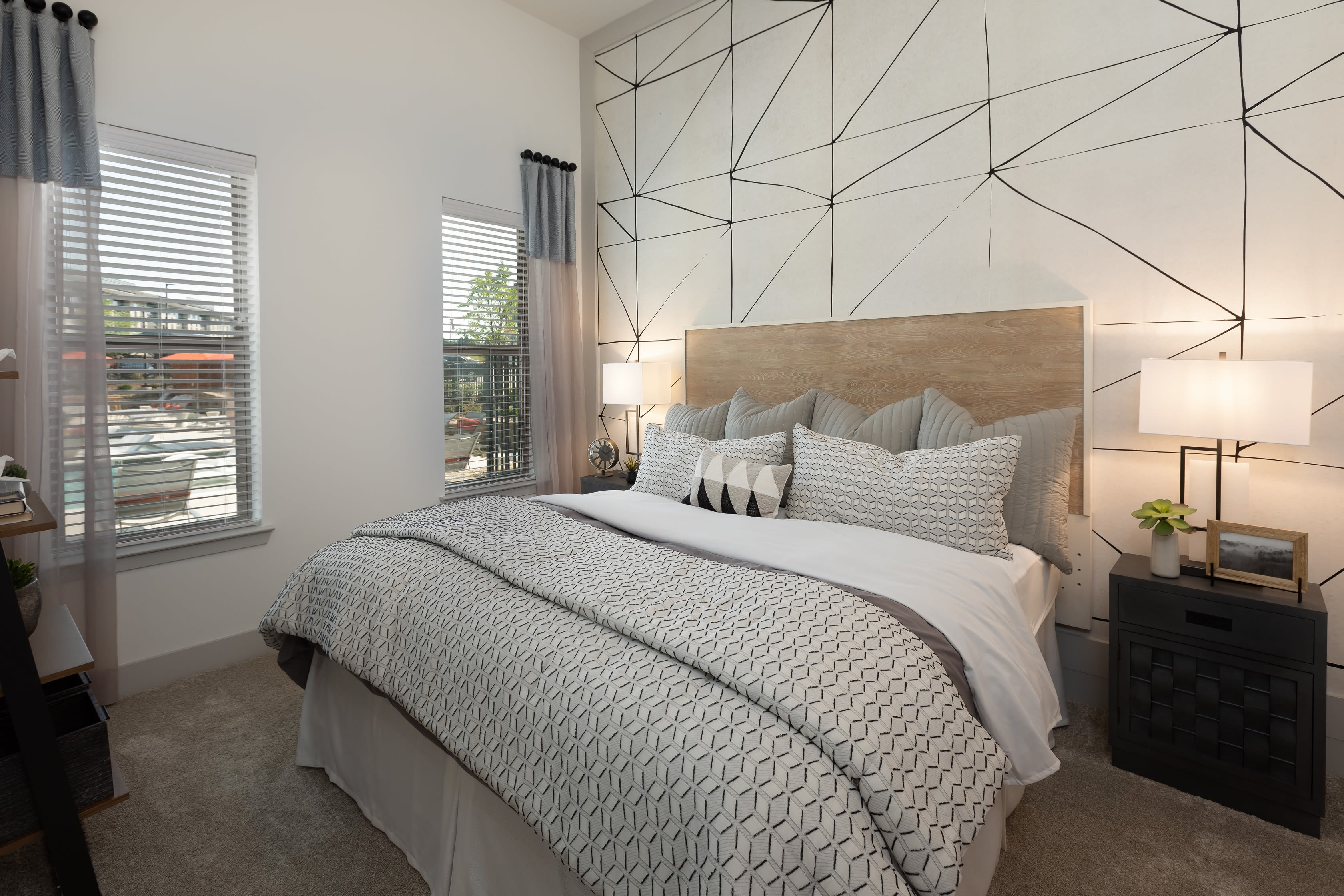 Large main bedroom at The ReVe in Garland, Texas