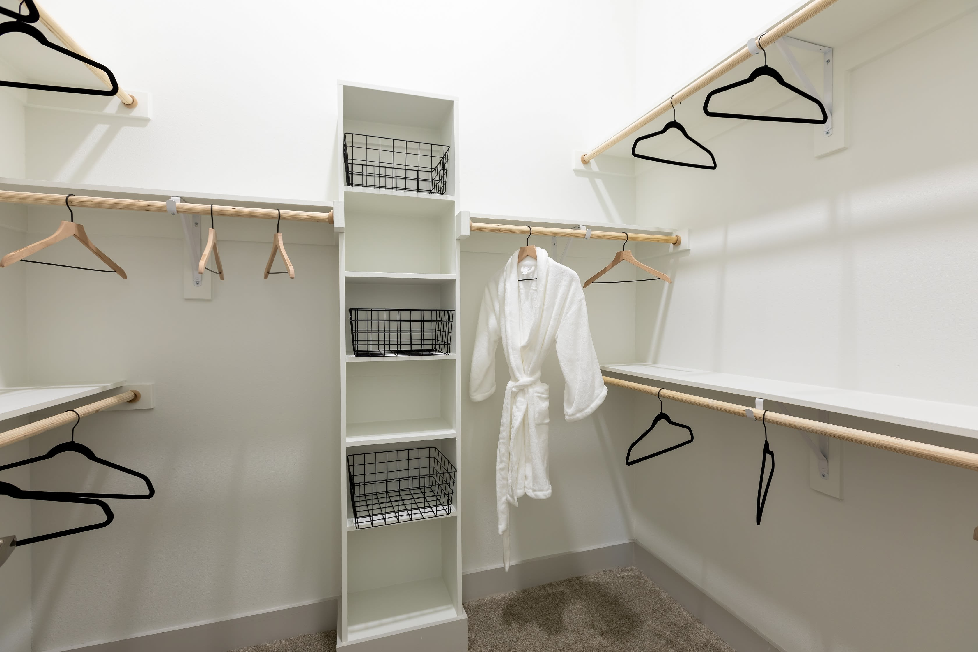 Large walk in closets at The ReVe in Garland, Texas
