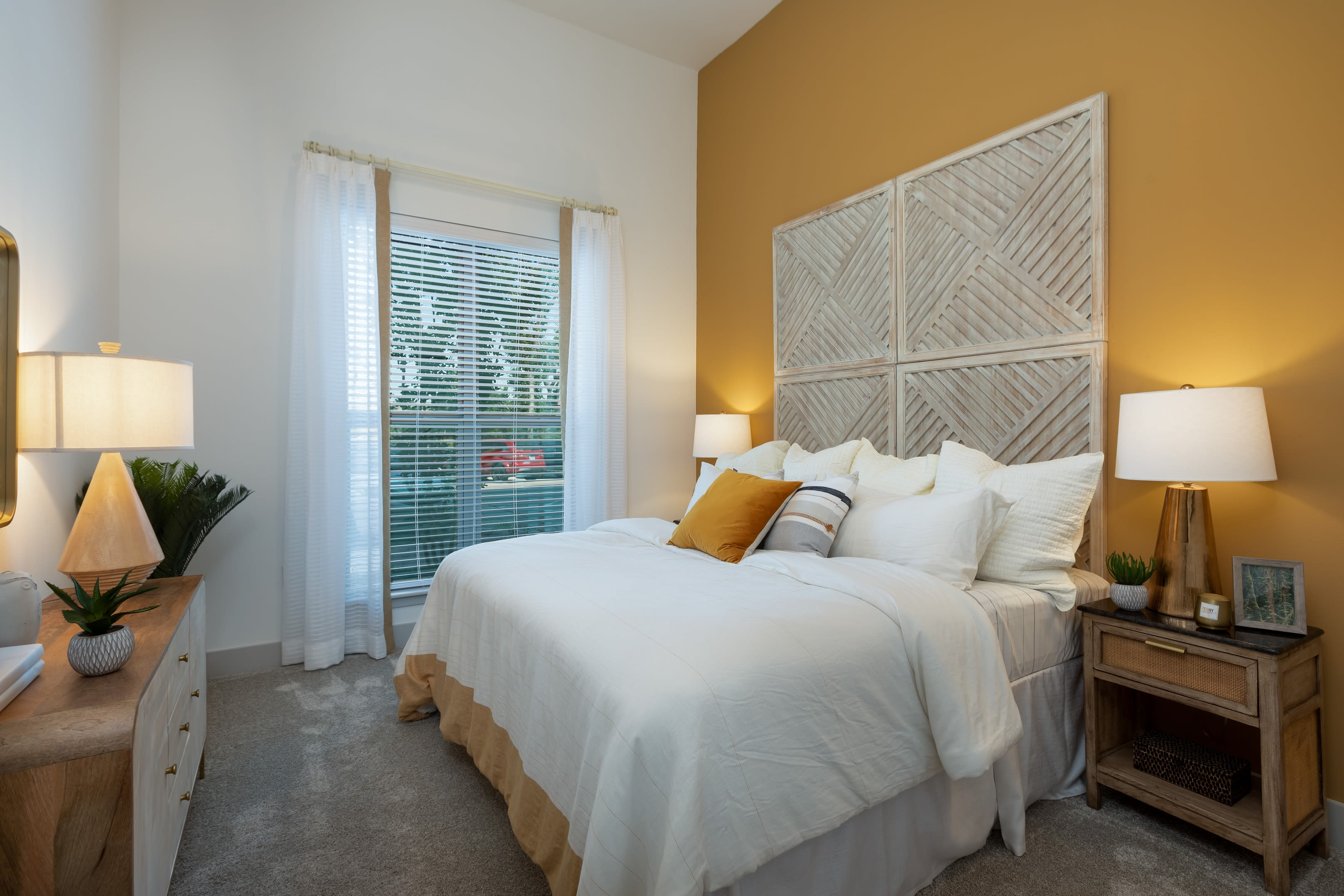 Large bedroom at The ReVe in Garland, Texas