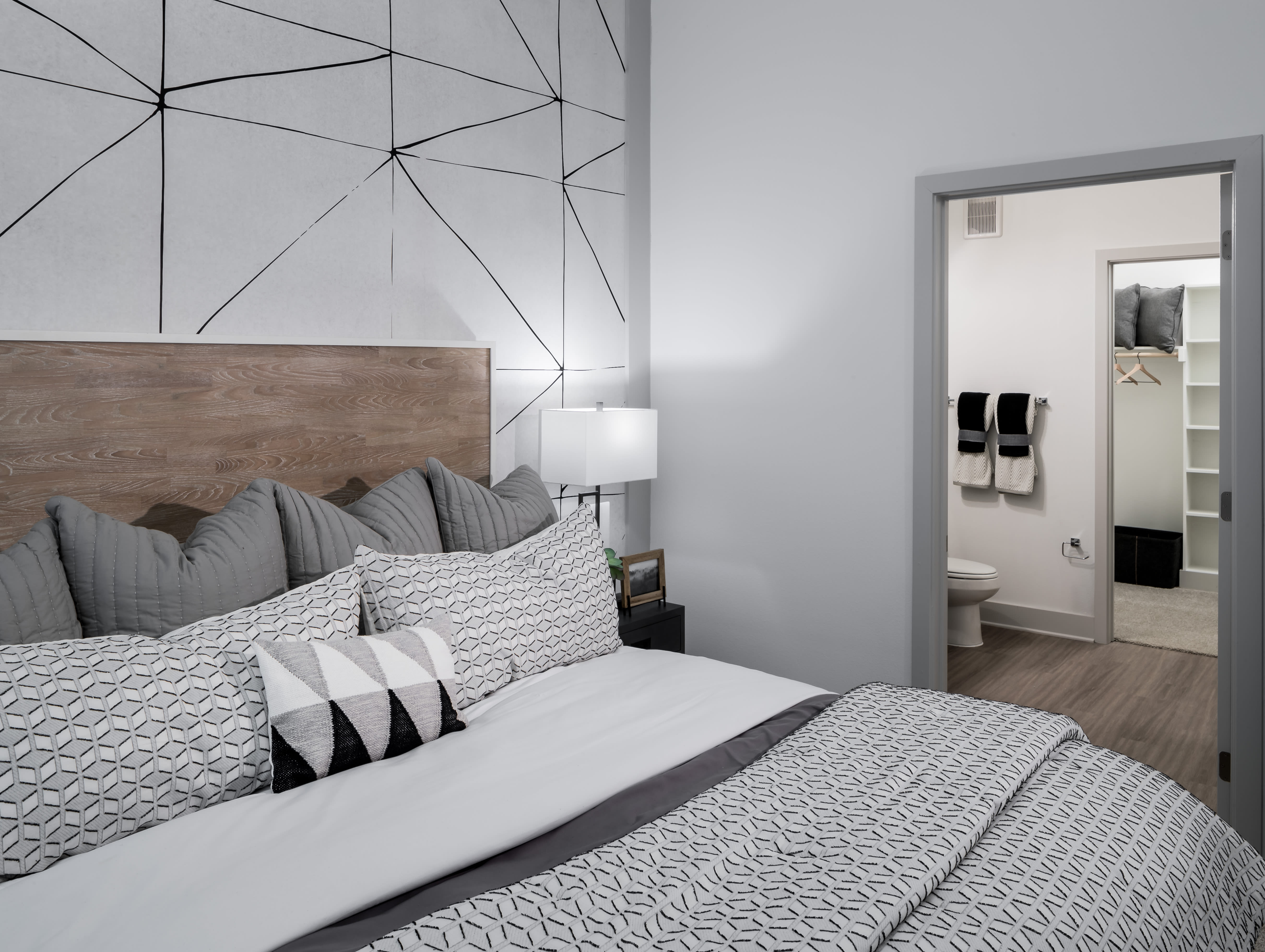 Spacious bedroom layout at The ReVe in Garland, Texas