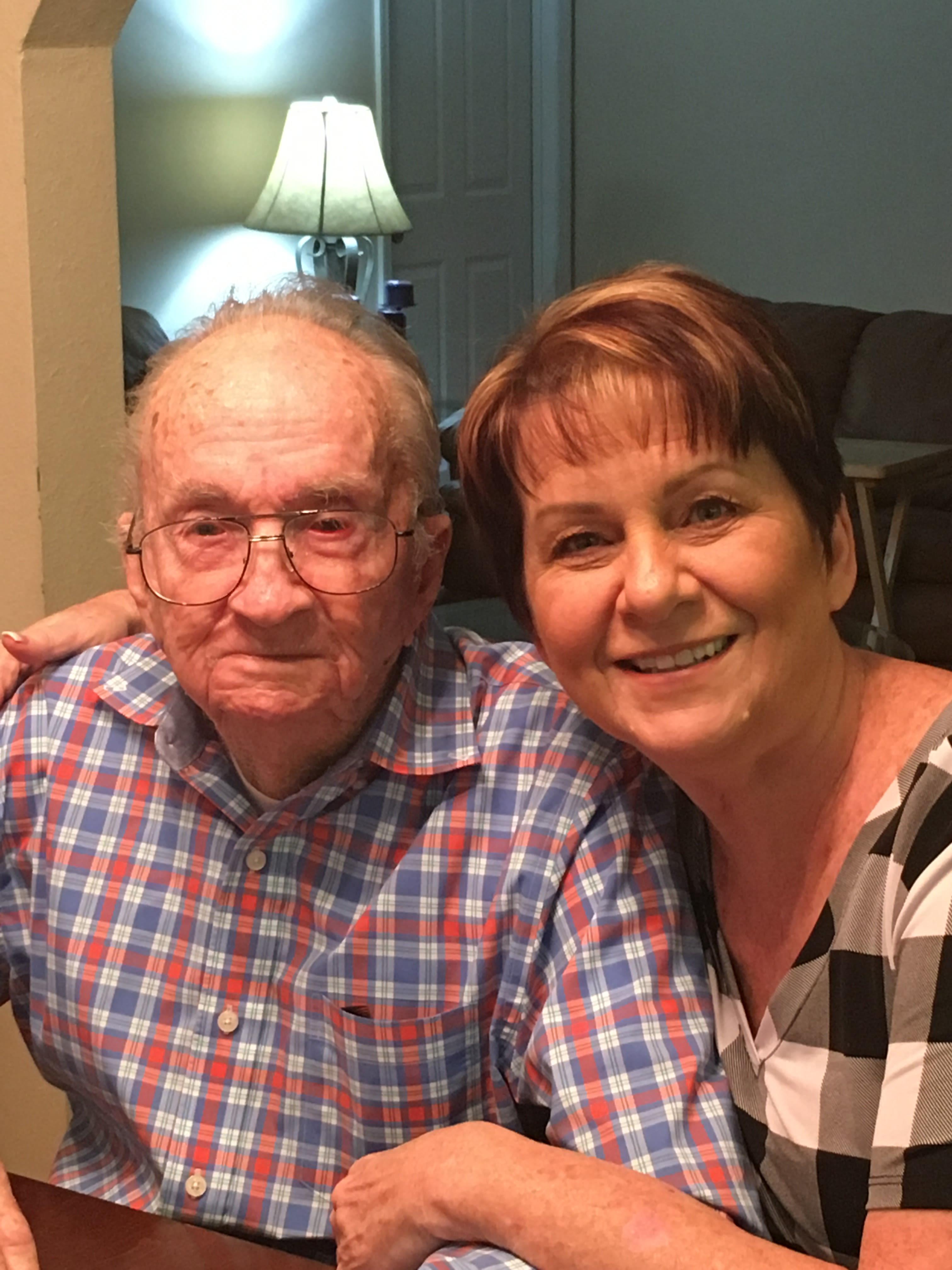 Lisa Baty and Father