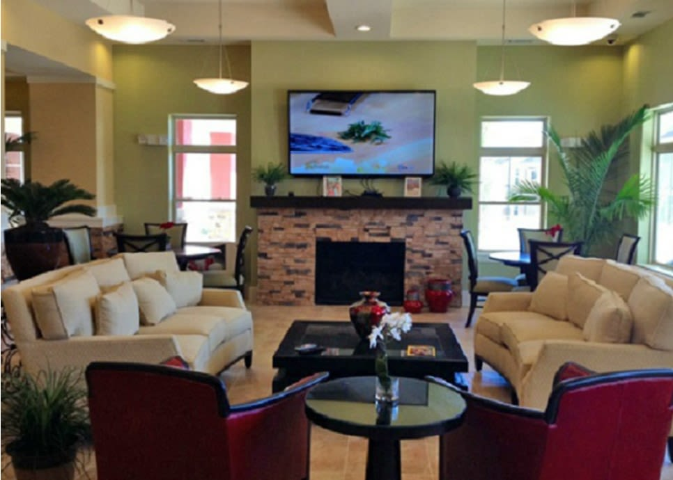 Lounge area in the clubhouse at Sonoma Palms in Las Cruces, New Mexico