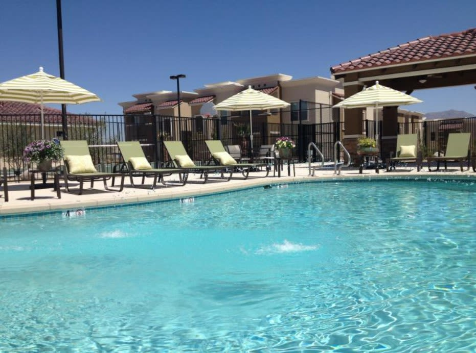 Sparkling pool at Sonoma Palms in Las Cruces, New Mexico