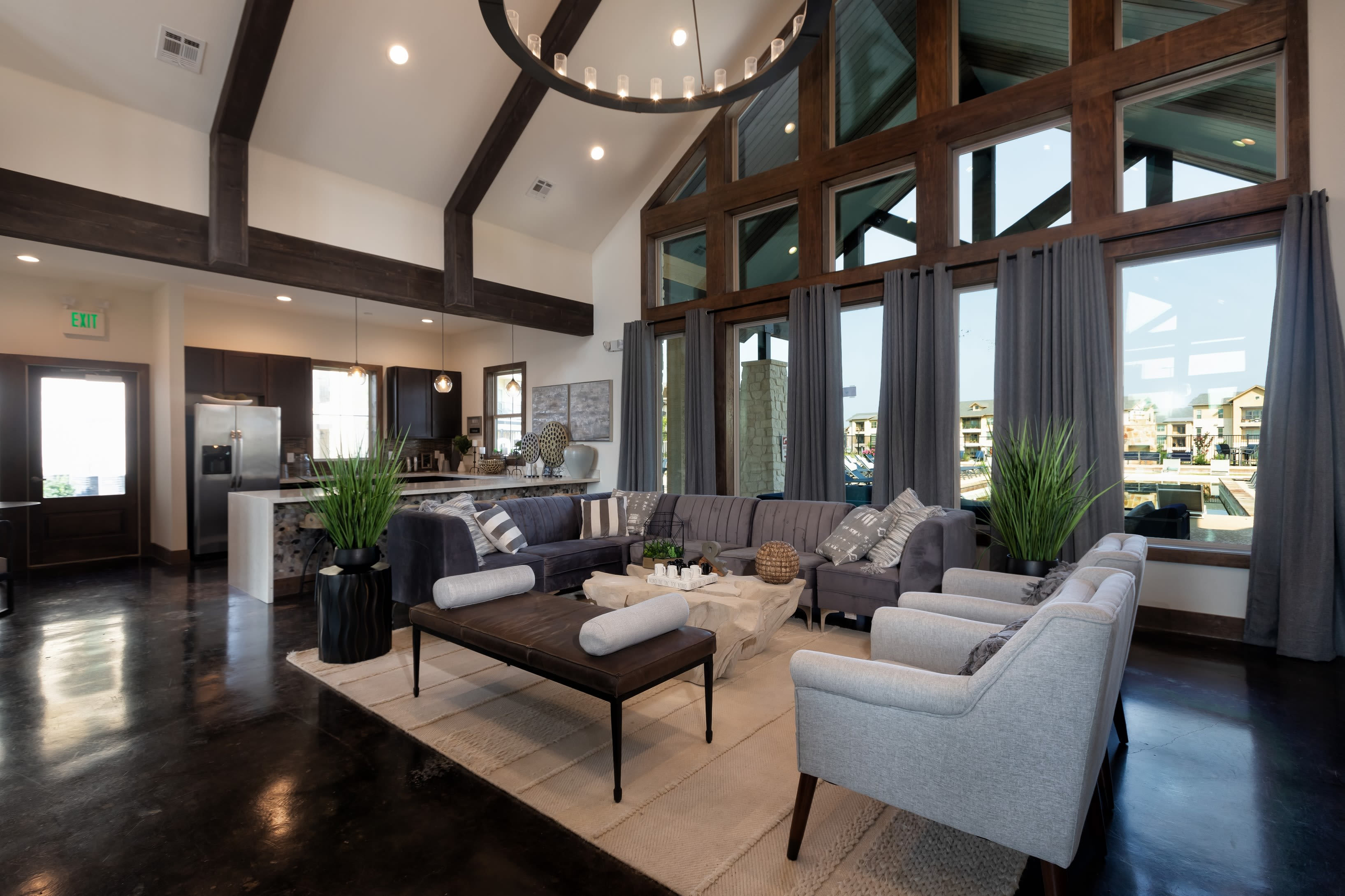 Luxurious resident clubhouse interior at 4 Corners Apartments in Frisco, Texas