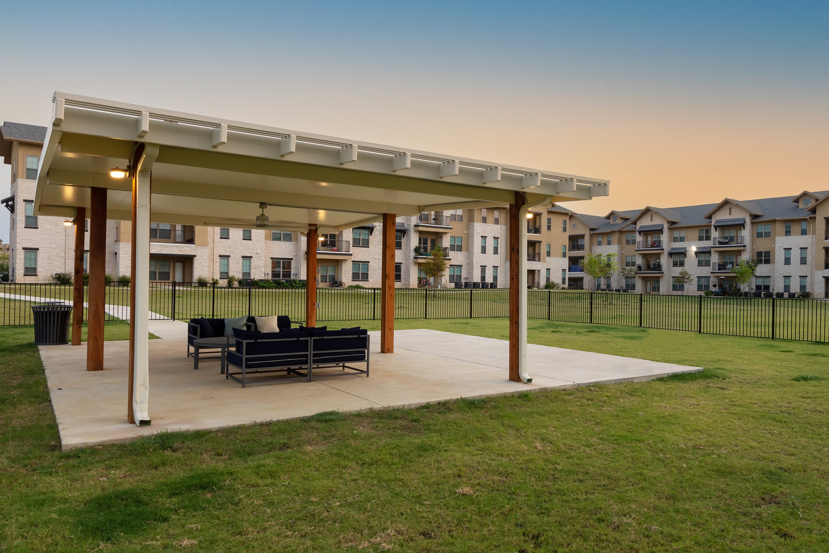 Outdoor space for residents to enjoy at 4 Corners Apartments in Frisco, Texas