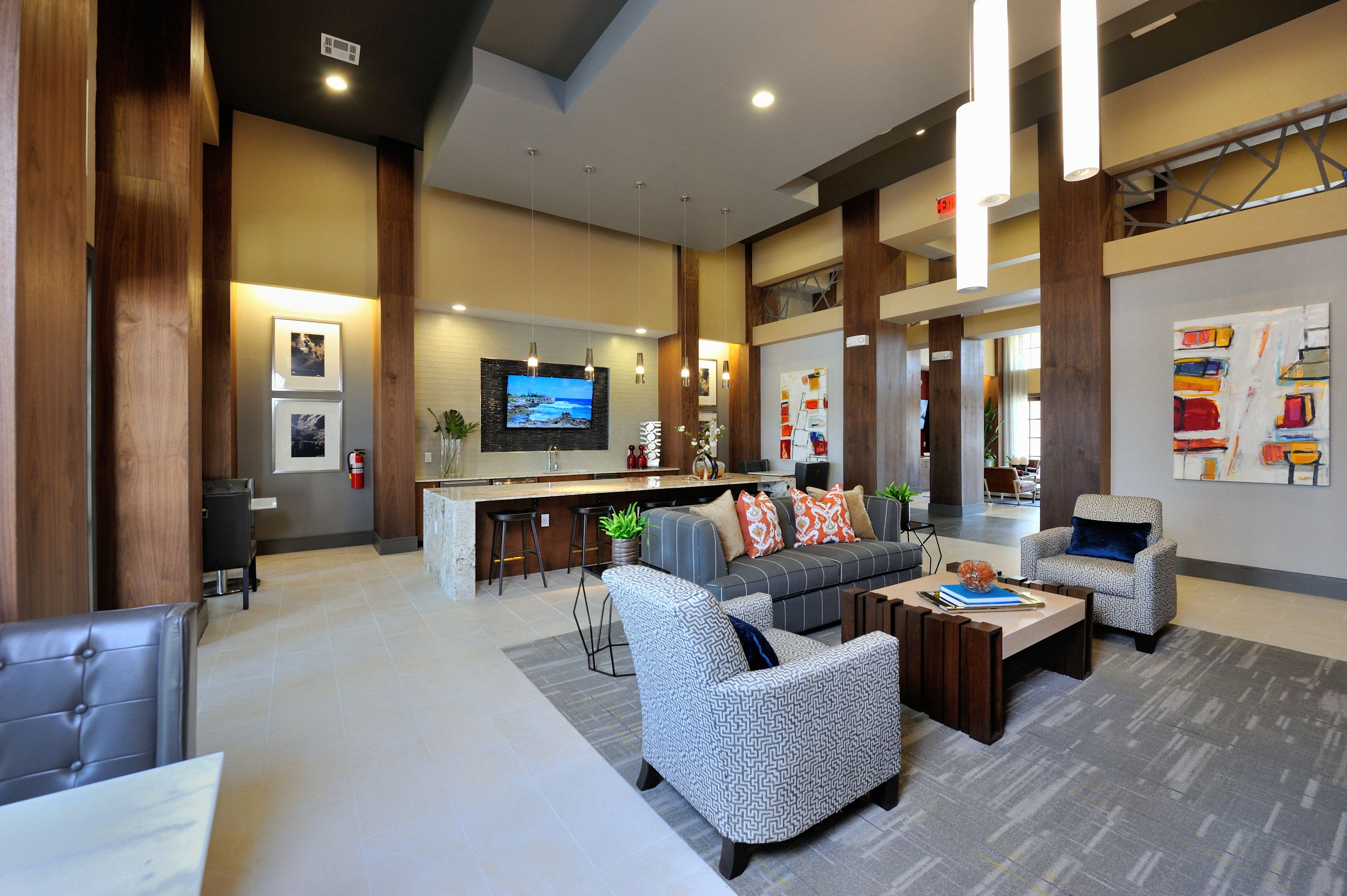 Community clubhouse at Olympus Falcon Landing in Katy, TX