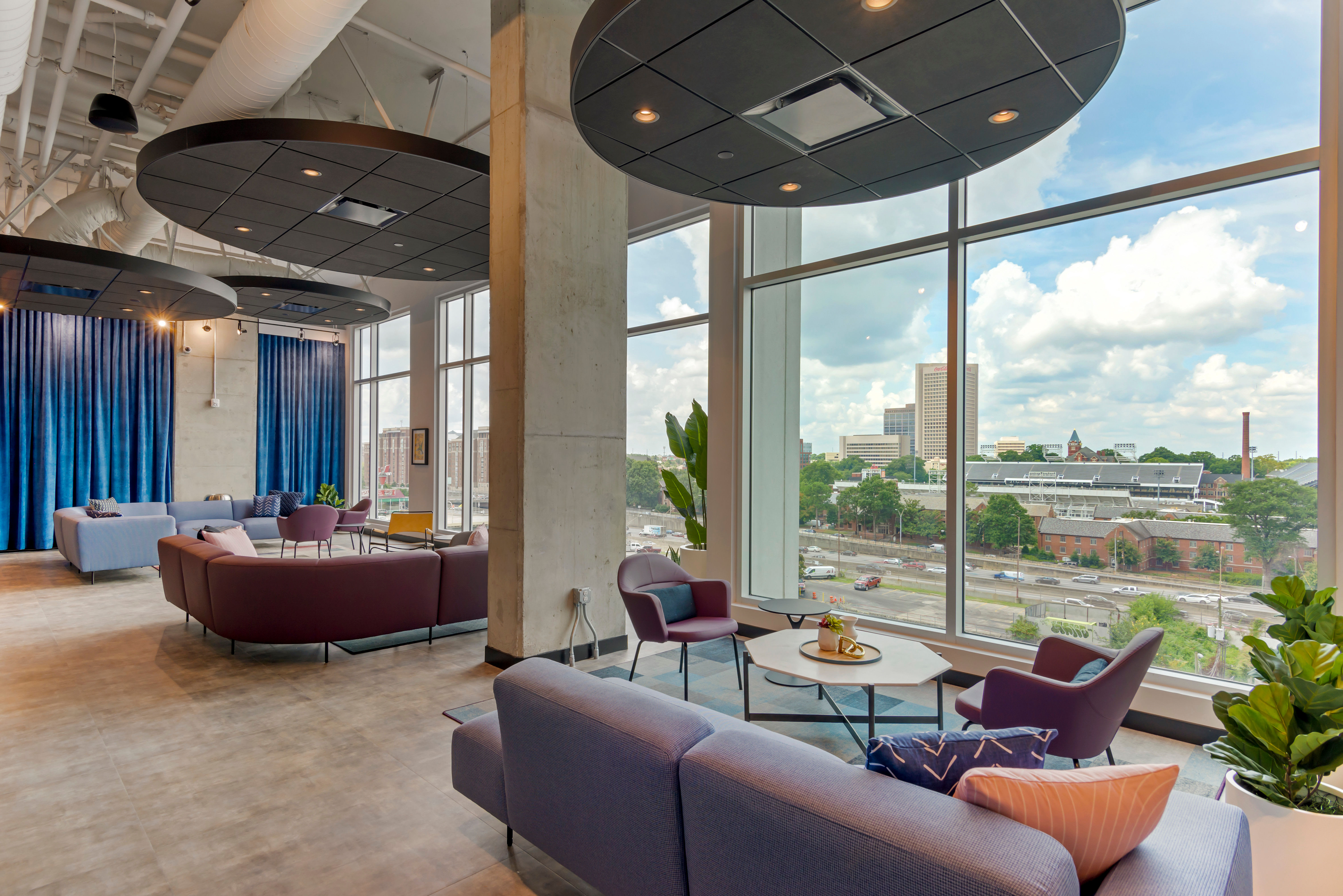Great spaces for students to study with colleagues at HERE Atlanta in Atlanta, Georgia near Georgia Tech