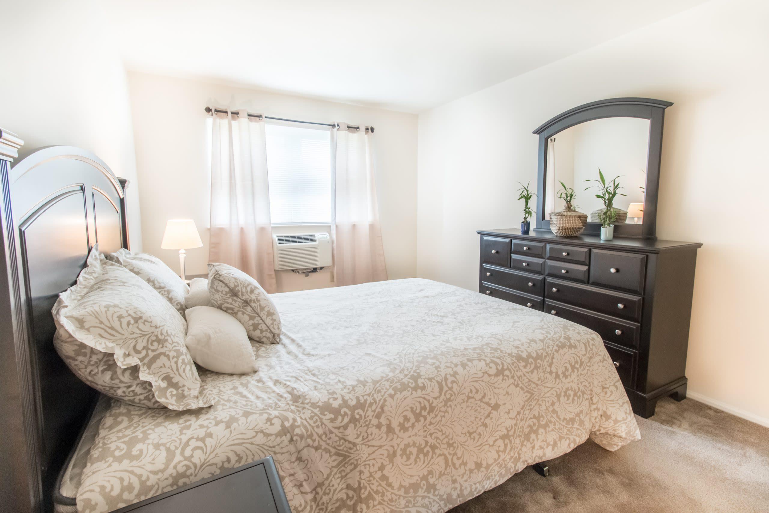 Model bedroom at Brakeley Gardens in Phillipsburg, New Jersey