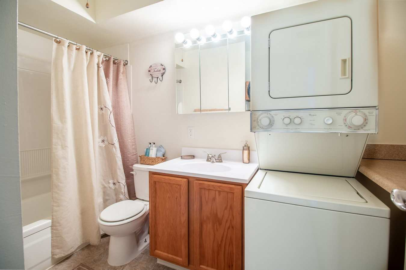 Model bathroom at Mill Village in Millville, New Jersey
