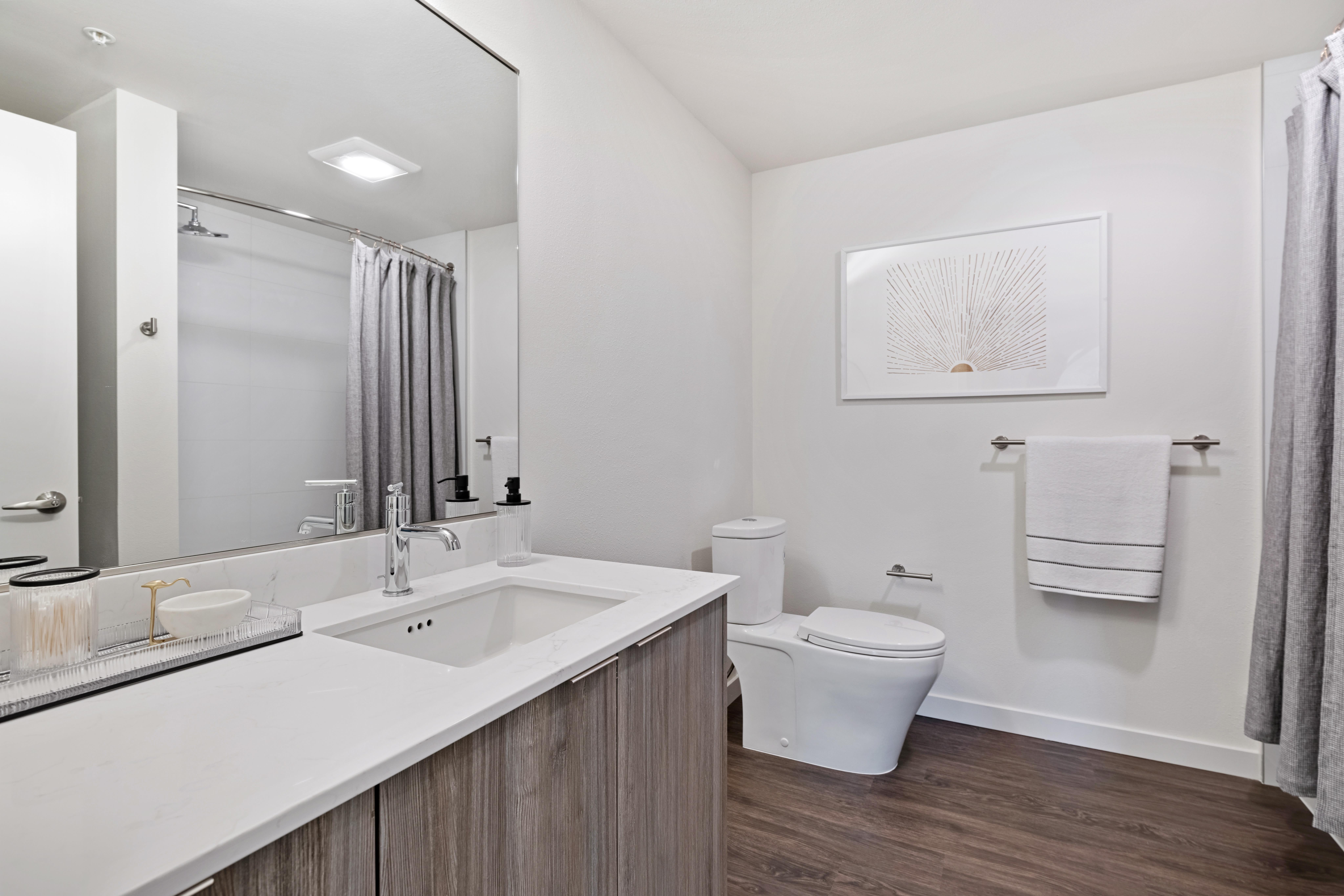 Model bathroom at Nightingale in Redmond, Washington