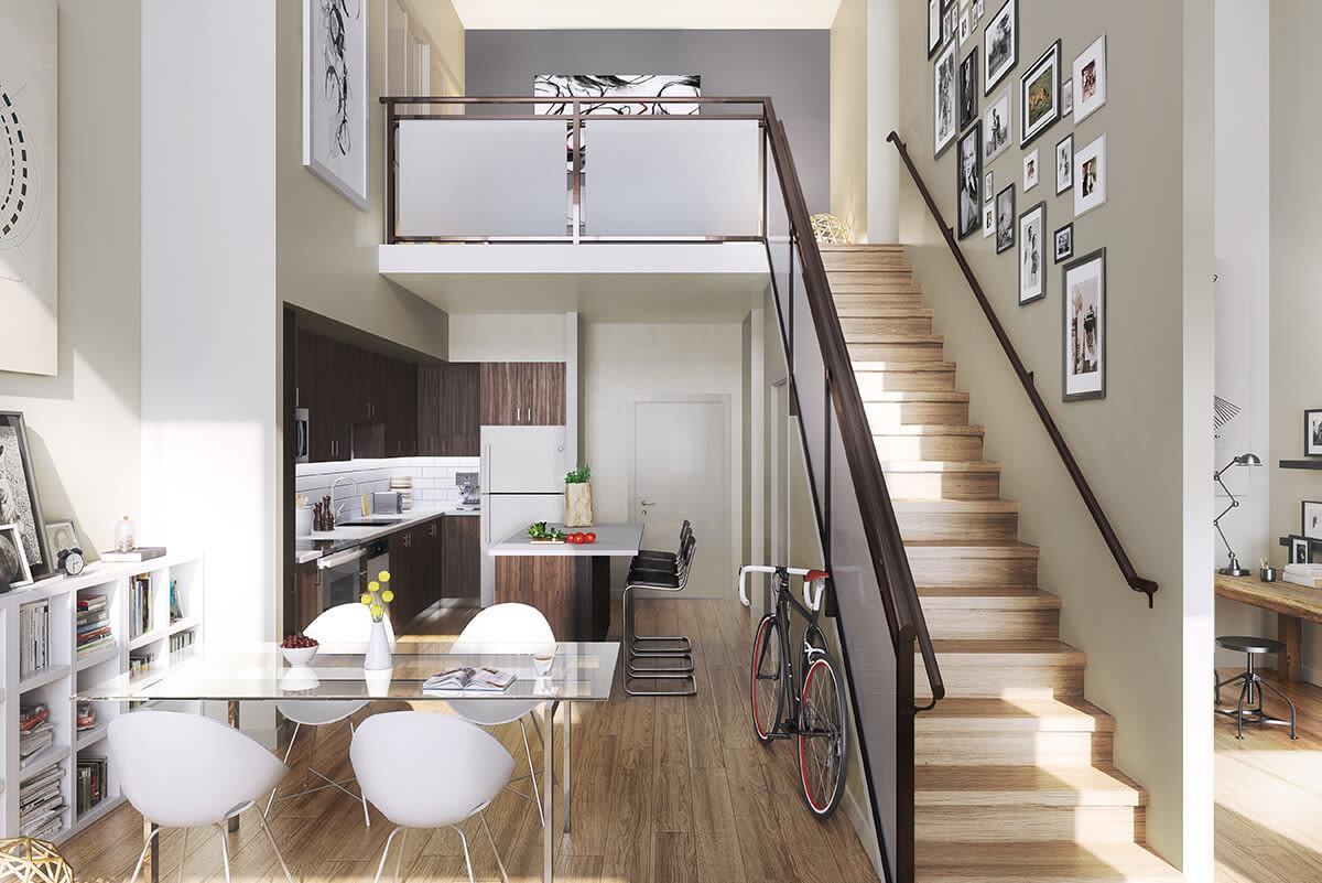 Loft-style apartment at Metropolitan Rockville Town Center in Rockville, Maryland