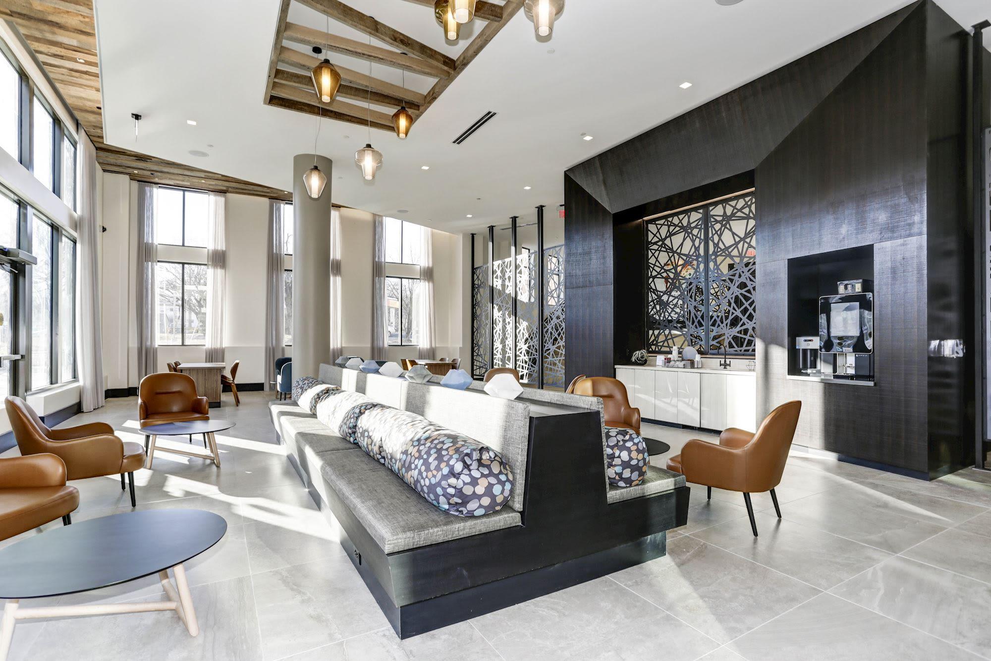 Gorgeous resident lounge at Metropolitan Rockville Town Center in Rockville, Maryland